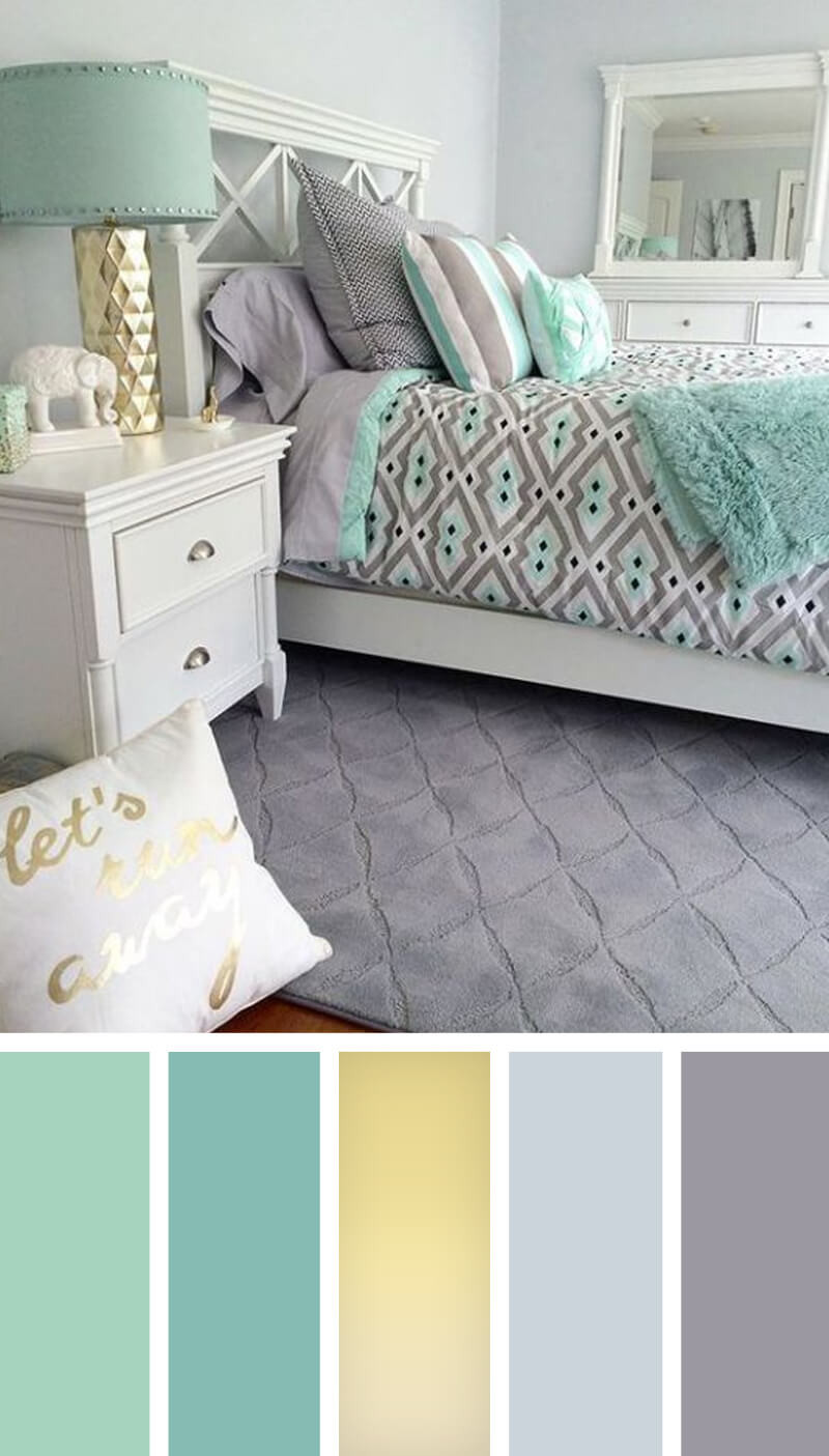 Teal and Gray Bedroom Fresh 12 Best Bedroom Color Scheme Ideas and Designs for 2019