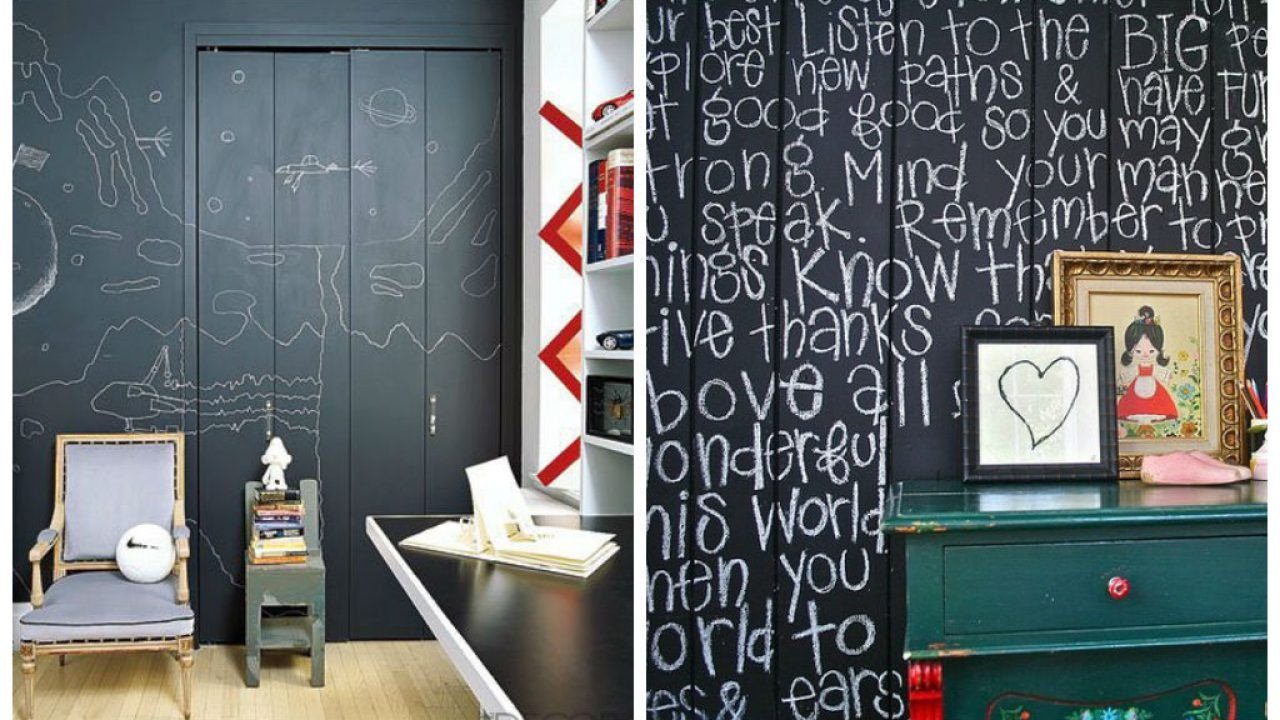 Teen Bedroom Wall Decor Awesome 30 Fun Chalkboard Paint Ideas for Kids Room