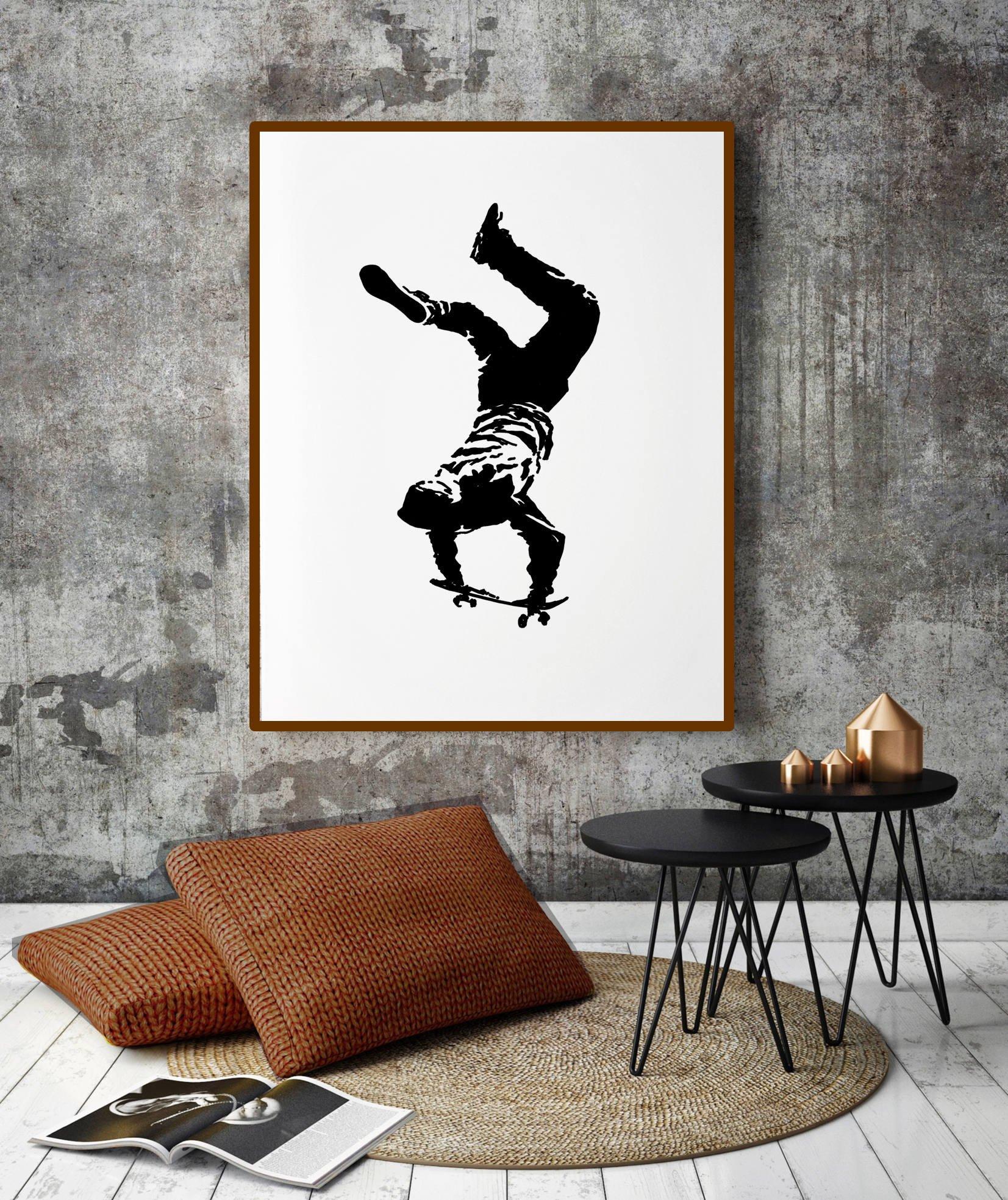 Teen Bedroom Wall Decor Elegant Teen Boy Wall Art Skateboard Art Teen Boy Gift Boy Room Art Boyfriend Gift Teen Room Decor Dorm Wall Art Teen Art Boy Bedroom Decor