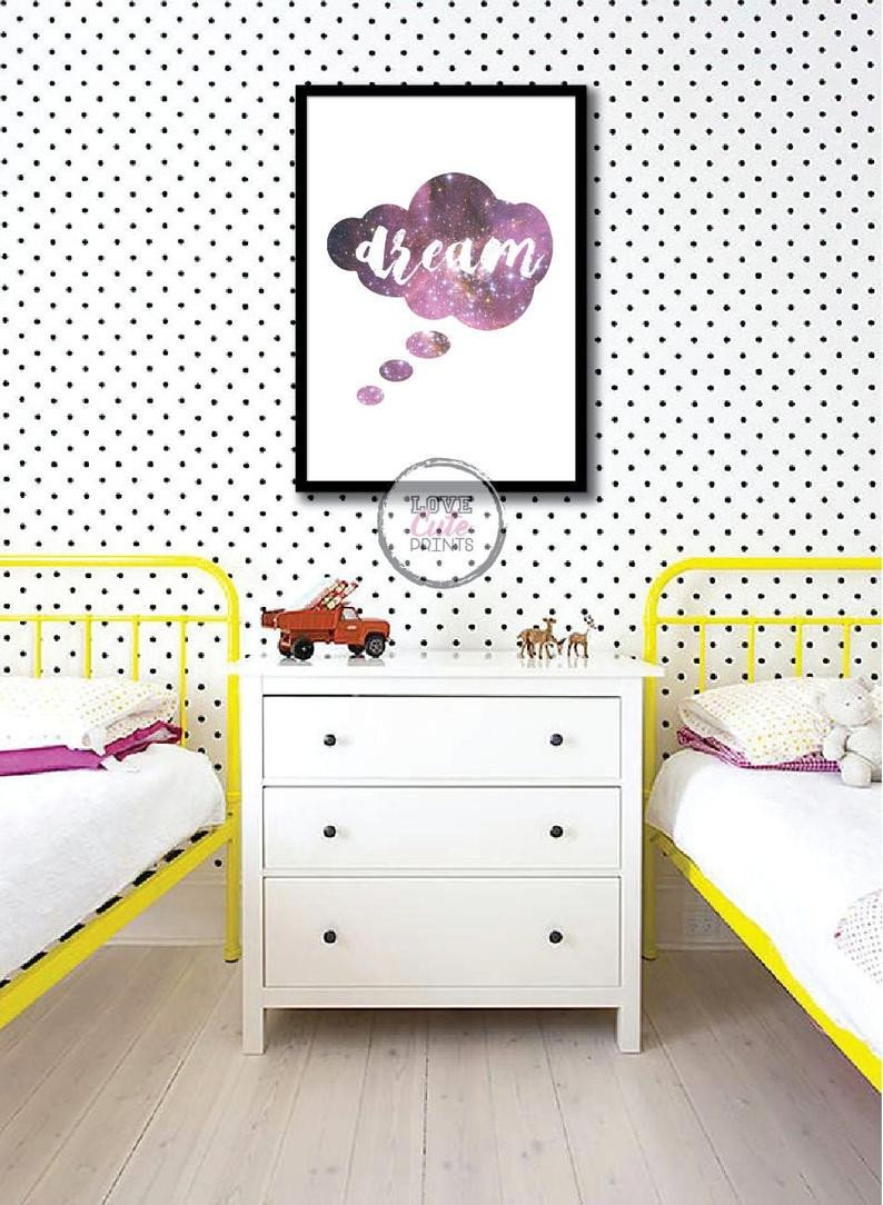 Teen Girl Bedroom Decor Fresh Printable Dream Poster Girl Wall Decor Cute Gift for Teens Pink Quote Room Decor Motivational Poster for Girls Galaxy Printable Decor