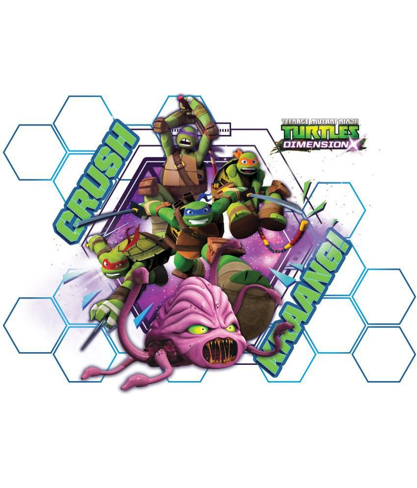 Teenage Mutant Ninja Turtles Bedroom Awesome asian Paints Wall S Tmnt Xl Crush Kraang Removable Cartoon Characters Sticker 40 X 55 Cms