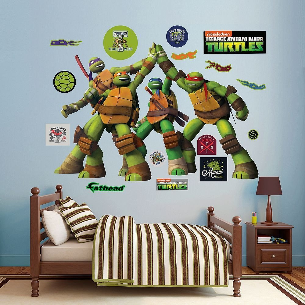 Teenage Mutant Ninja Turtles Bedroom Awesome Teenage Mutant Ninja Turtles High Five Wall Decals by