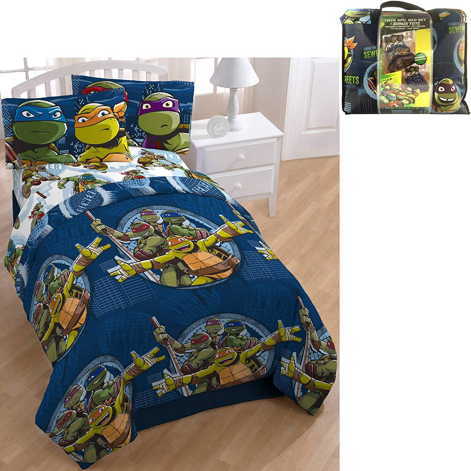 Teenage Mutant Ninja Turtles Bedroom Beautiful D I D 5 Piece Kids Green Blue Teenage Mutant Ninja Turtles forter Twin Set Tmnt Bedding Rapheal Leonardo Donatello Michelangelo Warriors Blue