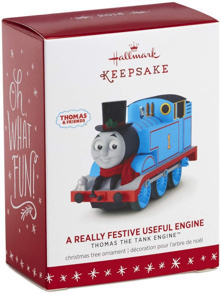 "Thomas the Train Bedroom Decor Elegant Hallmark Keepsake Thomas the Tank Engine ""a Really Festive Useful Engine"" Holiday ornament"