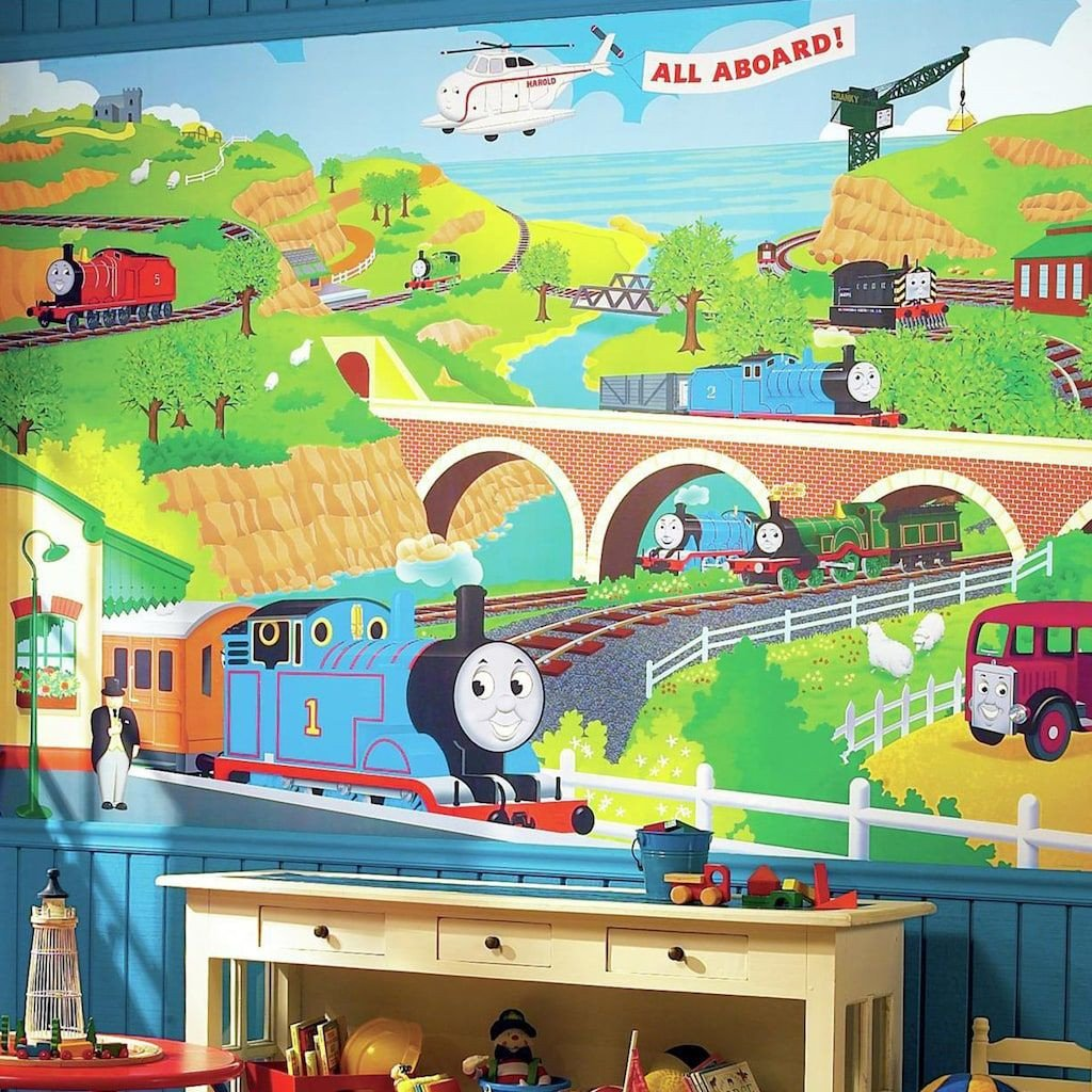 Thomas the Train Bedroom Decor Fresh York Wall Coverings York Wallcoverings Thomas the Tank