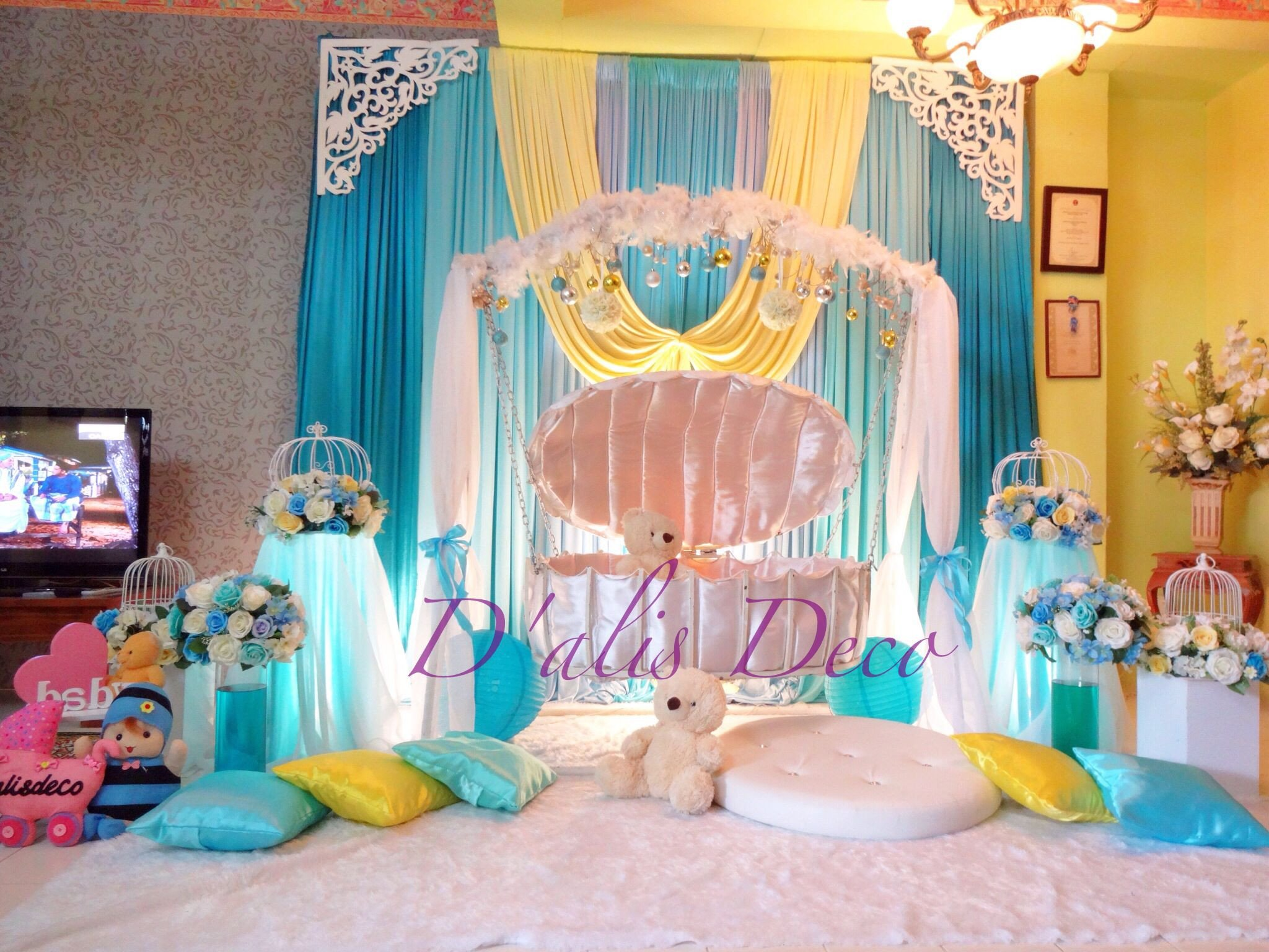 Tiffany Blue Bedroom Ideas Inspirational Cengkerang Cradle Buaian Berendoi Tema Tiffany Blue Dan