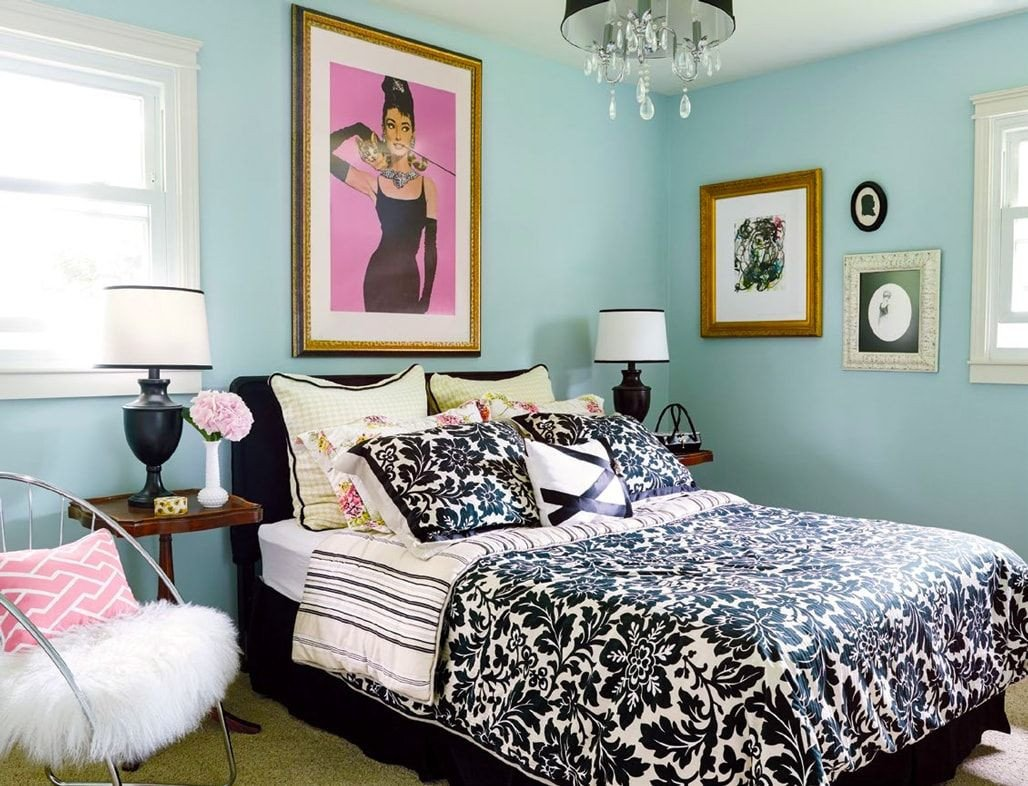 Tiffany Blue Bedroom Ideas Unique Small Guest Bedroom Hollywood Glamour Decor