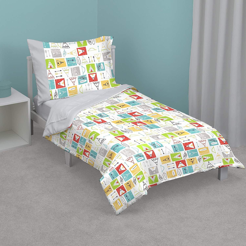 Toddler Bedroom Furniture Set Inspirational Zutano Teepee 4 Piece toddler Bed Set Grey Lime Teal Yellow