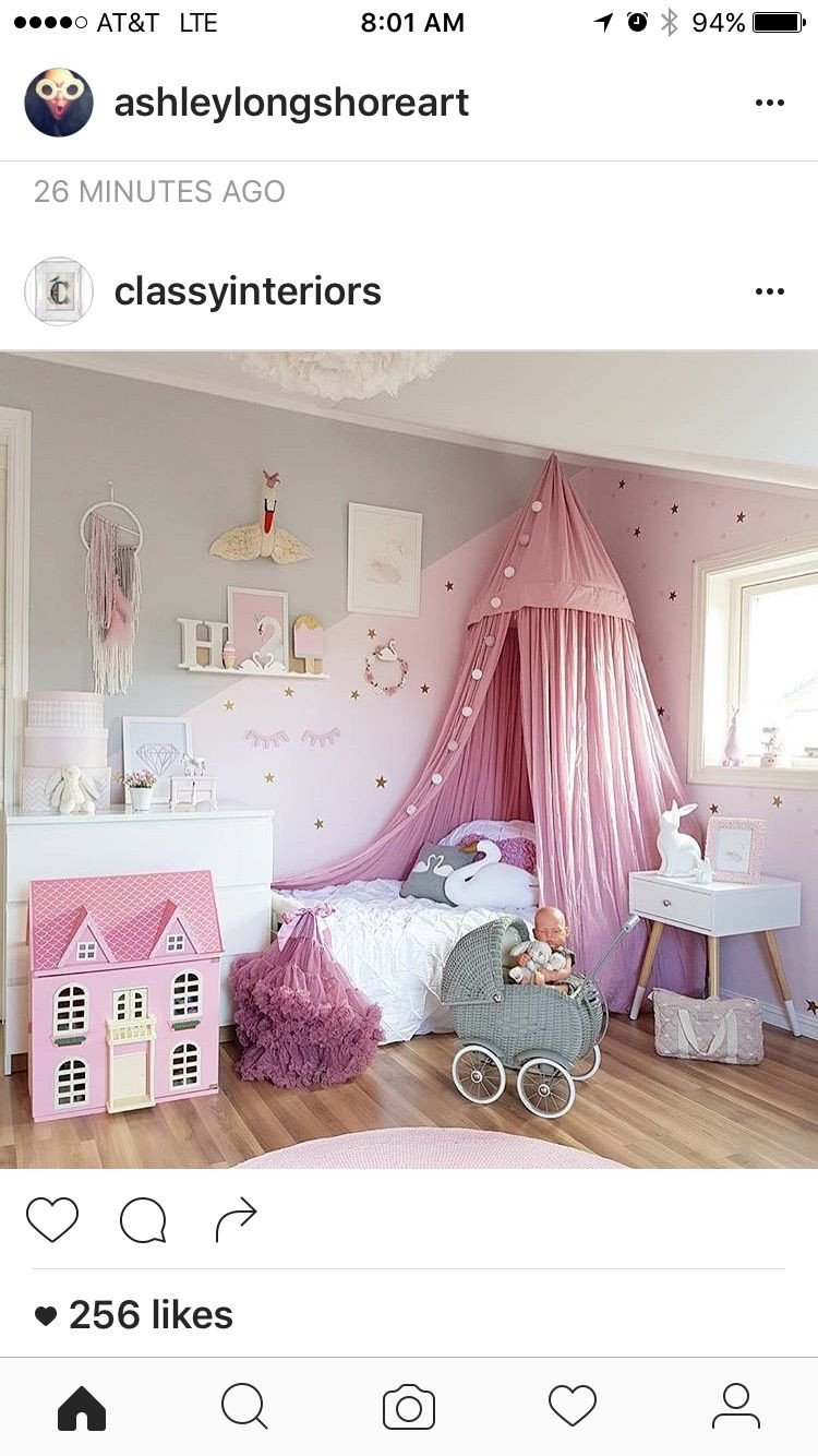 Toddler Girl Bedroom Decor Unique Pin by B T On House In 2019