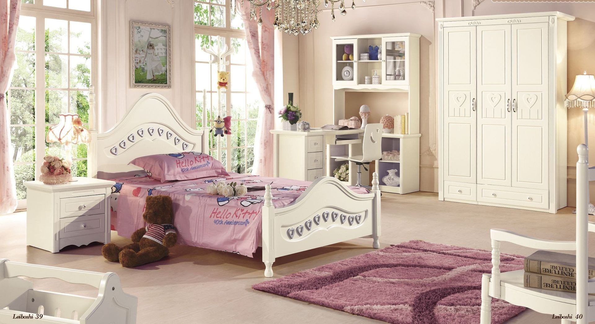 Toddlers Bedroom Furniture Set Elegant solid Wood Bedroom Furniture for Kids