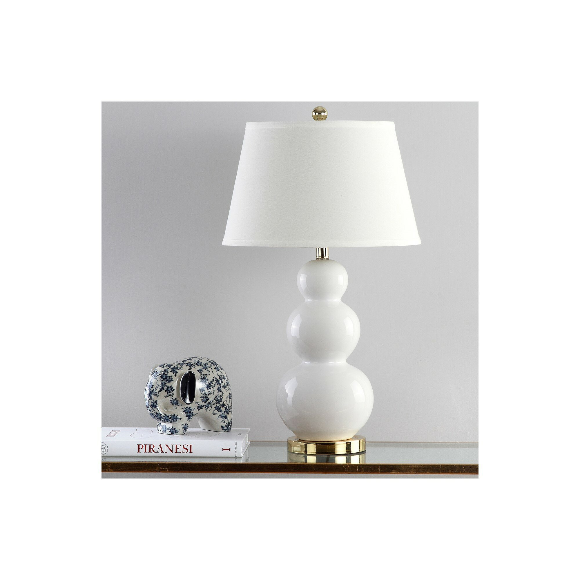 """Touch Table Lamps Bedroom Awesome Ellzey Triple Gourd Ceramic 27"""" Table Lamp Set"""