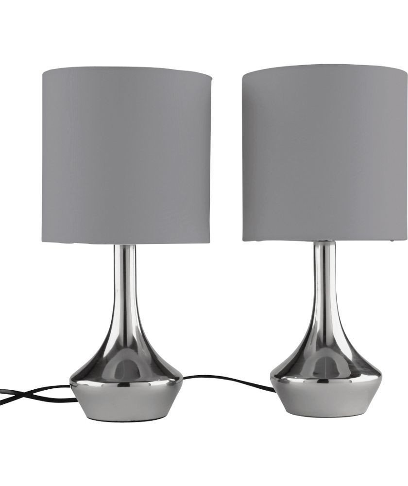 Touch Table Lamps Bedroom Elegant Buy Colourmatch Pair Of touch Table Lamps Smoke Grey at