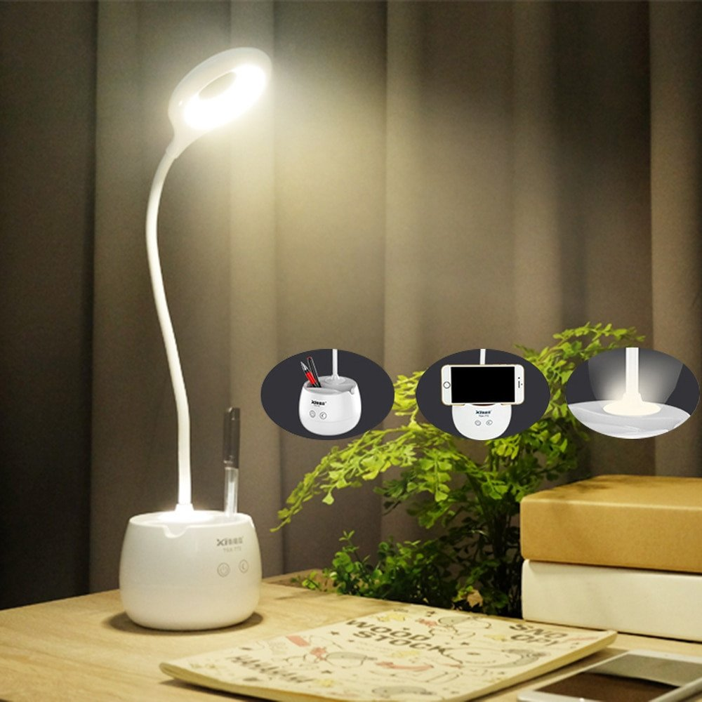 Touch Table Lamps Bedroom Elegant Us $17 14 Off Led Desk Lamp with Night Light Brush Pot Base touch Switch Dimmer Rechargeable Student Study Lights Table Lamps for Bedroom In Desk