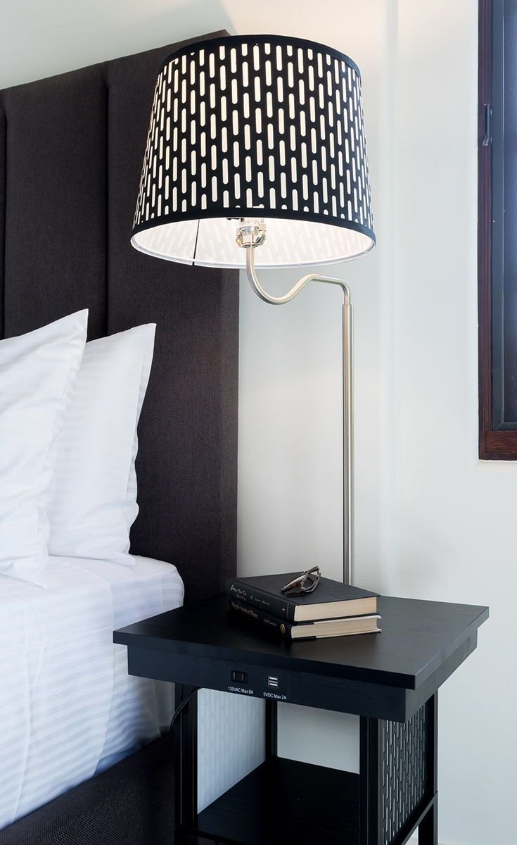 Touch Table Lamps Bedroom Luxury Madison Led Floor and Table Lamp Shelves & Usb Port