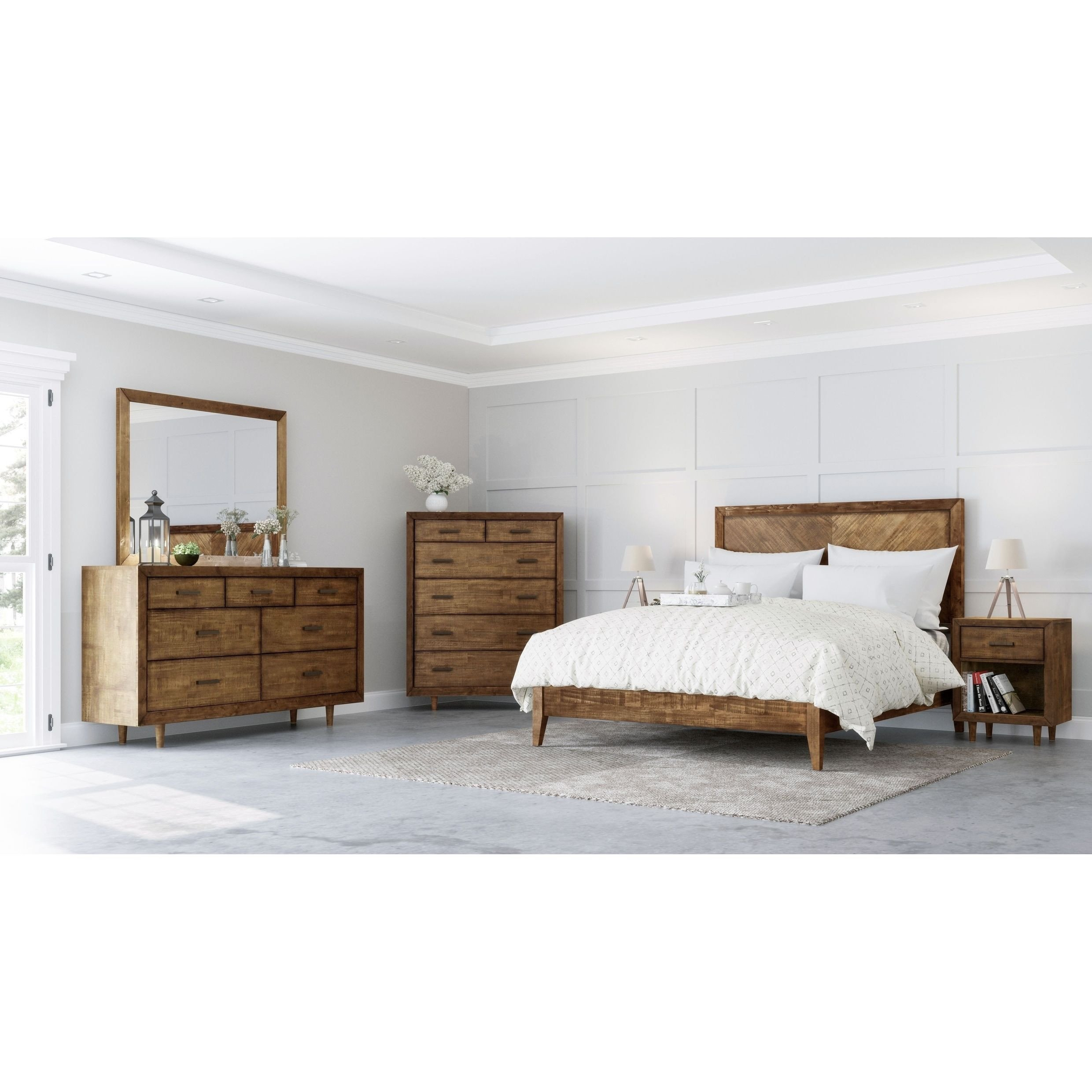 Trisha Yearwood Bedroom Furniture Beautiful Abbyson Retro Mid Century 6 Piece Bedroom Set In 2019
