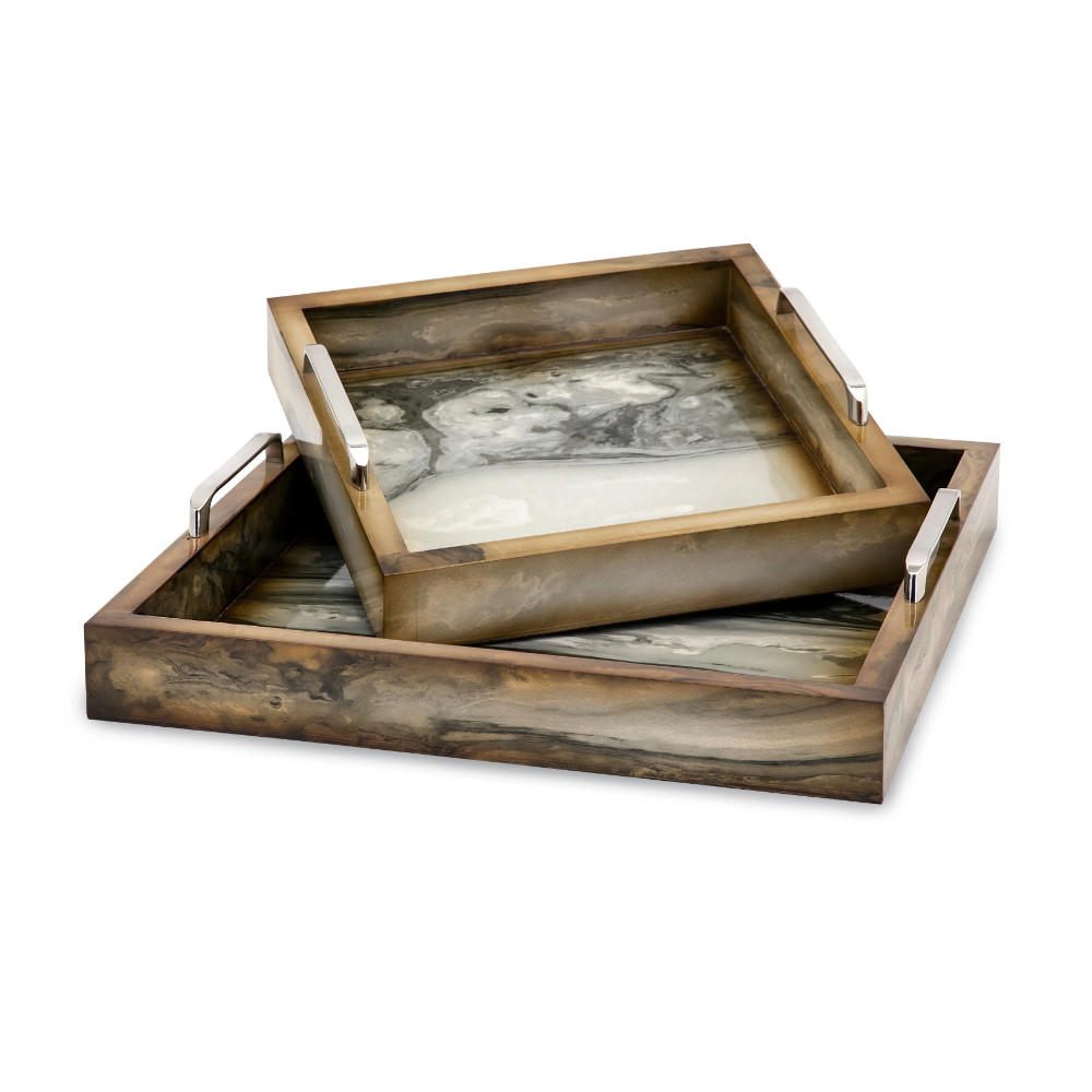Trisha Yearwood Bedroom Furniture Luxury Trisha Yearwood New Frontier Marly Decorative Trays Set Of