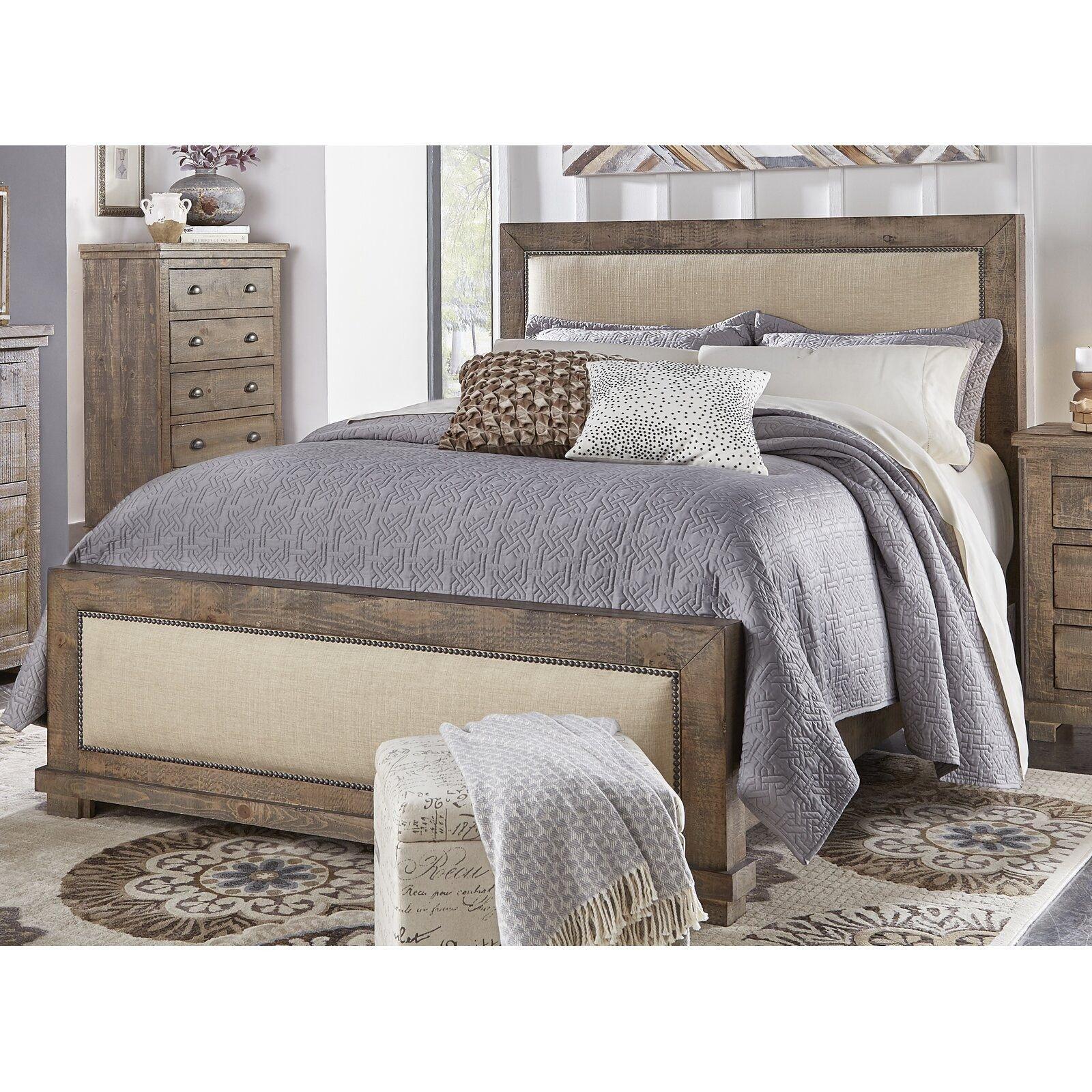 Tufted Headboard Bedroom Set Luxury Castagnier Upholstered Standard Bed In 2019