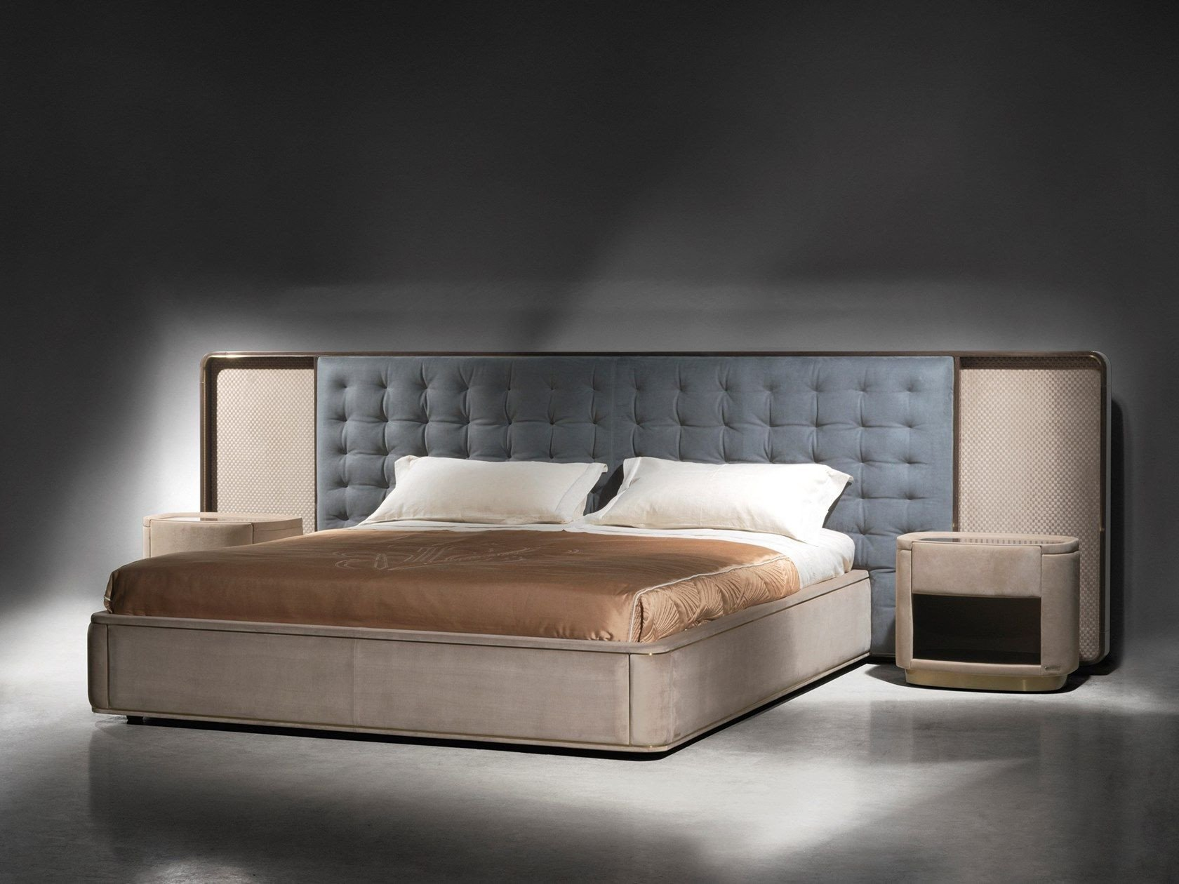 Tufted Headboard Bedroom Set Luxury Upholstered Fabric Bed with Tufted Headboard Ripley by