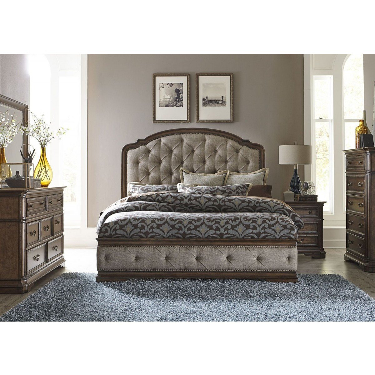 Tufted King Bedroom Set Elegant Liberty Furniture Amelia King Upholstered Bedroom Set 487 Br Kub