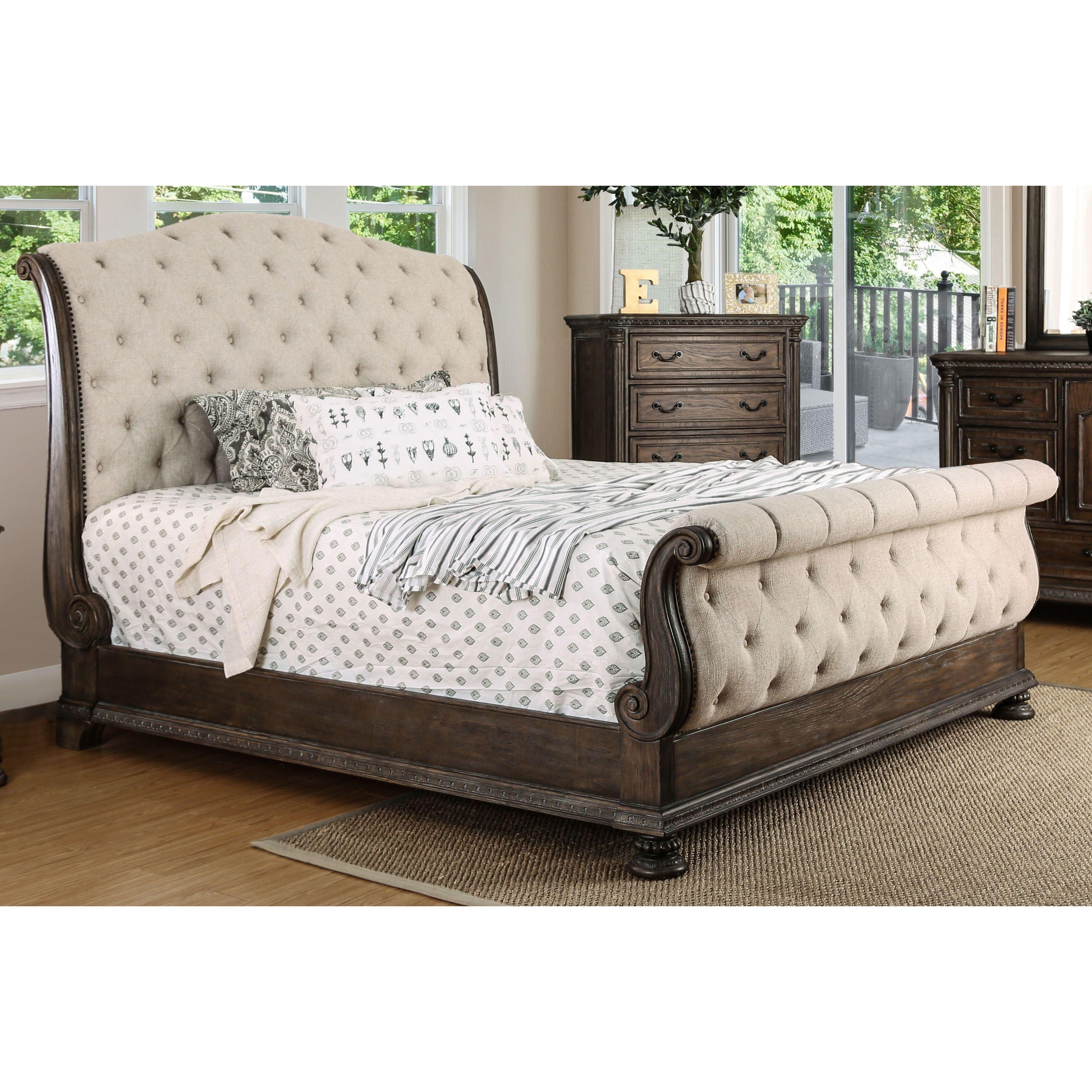 Tufted King Bedroom Set Fresh Furniture Of America Bri Te Iii Traditional ornate Rustic