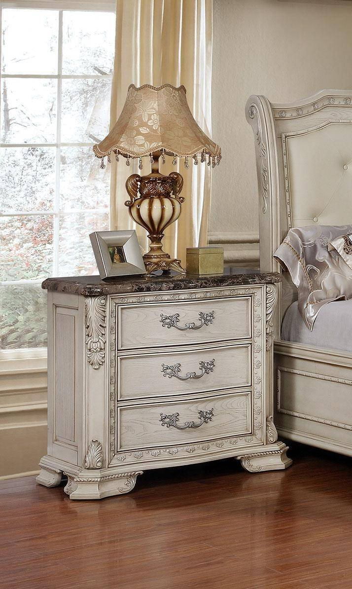 Tufted King Bedroom Set Fresh Mcferran B1000 Antique White Tufted King Size Bedroom Set