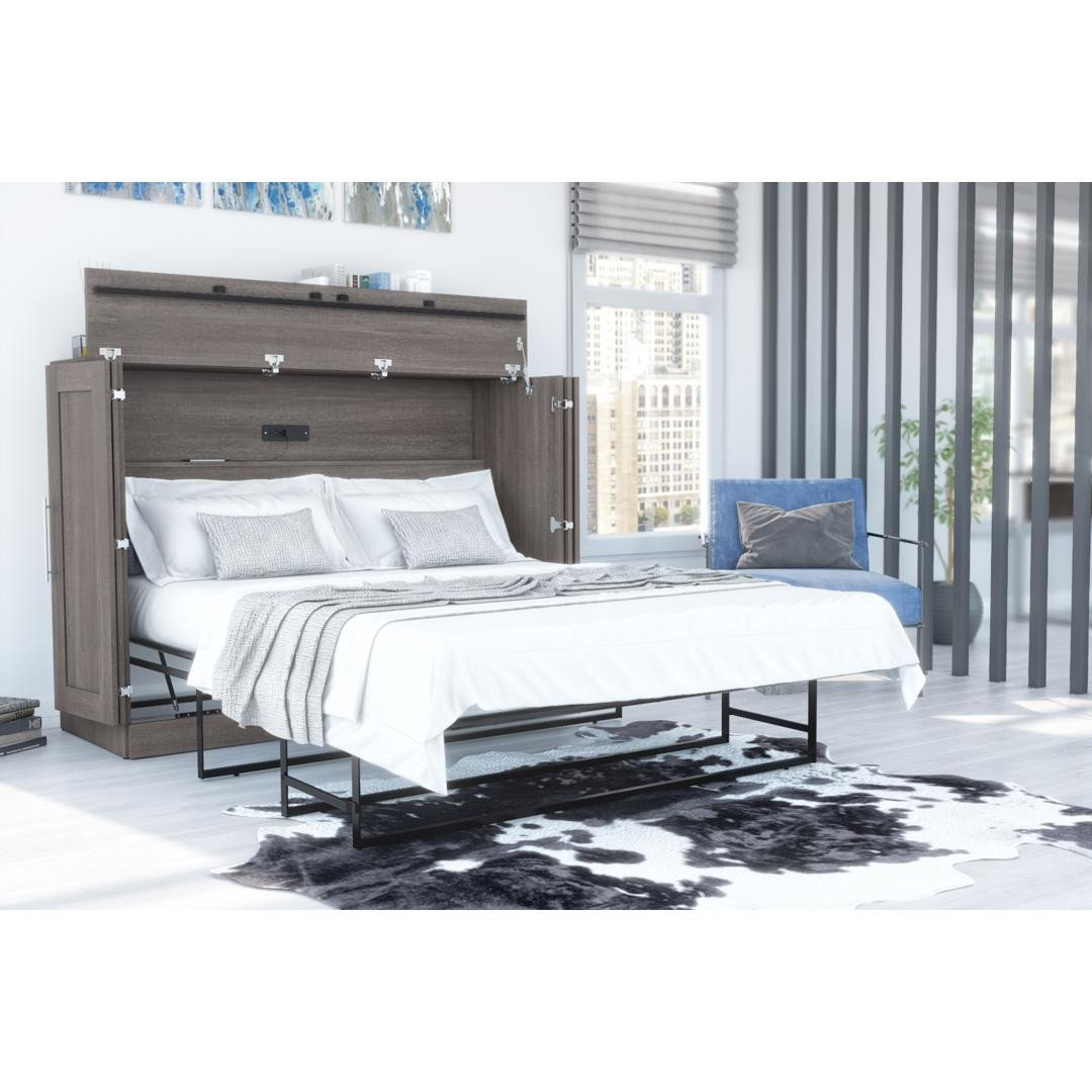 Tv Height In Bedroom Awesome Pur Full Cabinet Bed with Mattress