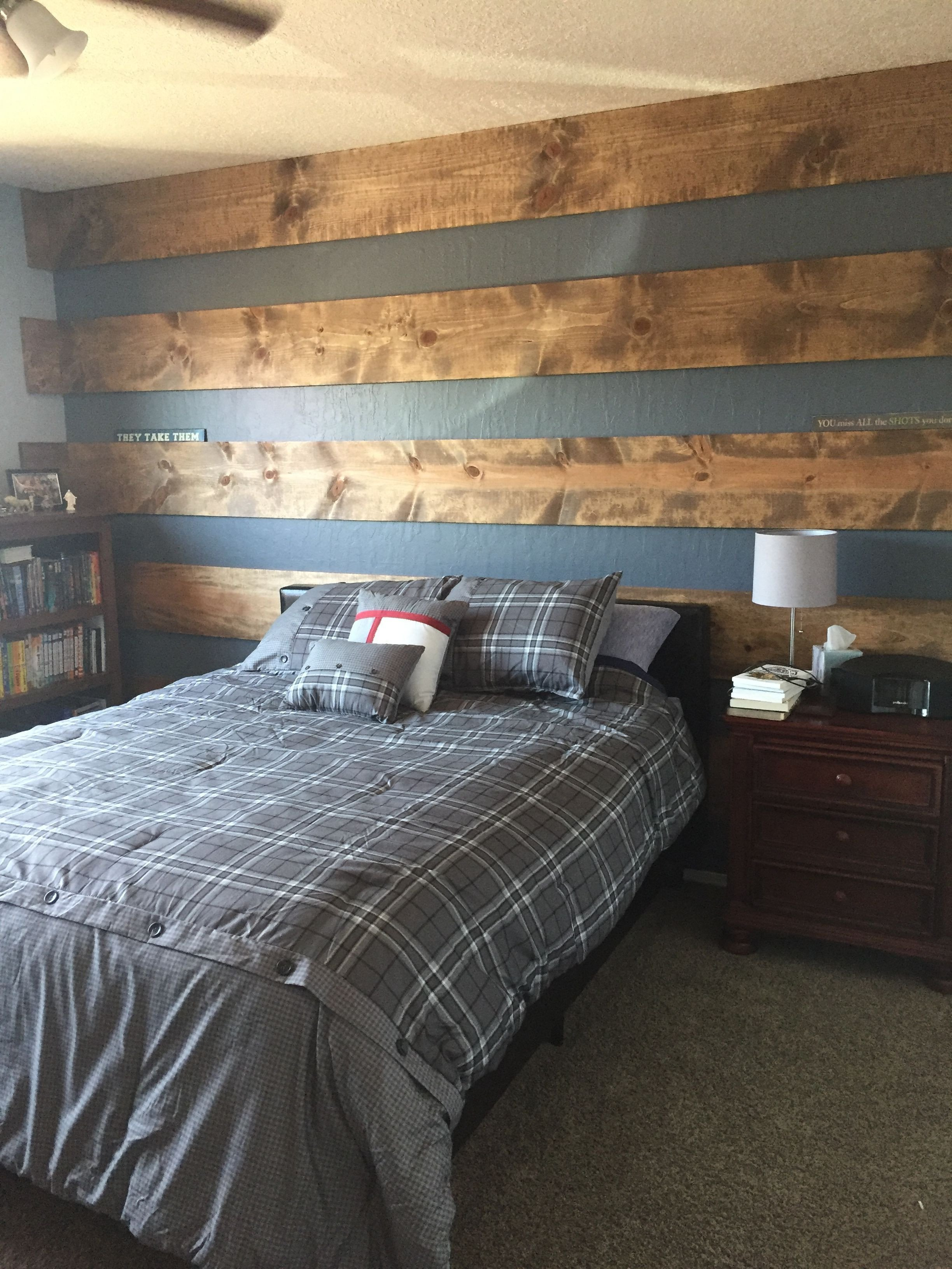 Tween Boy Bedroom Ideas New Wood Plank Accent Wall to Update Teenage son S Room