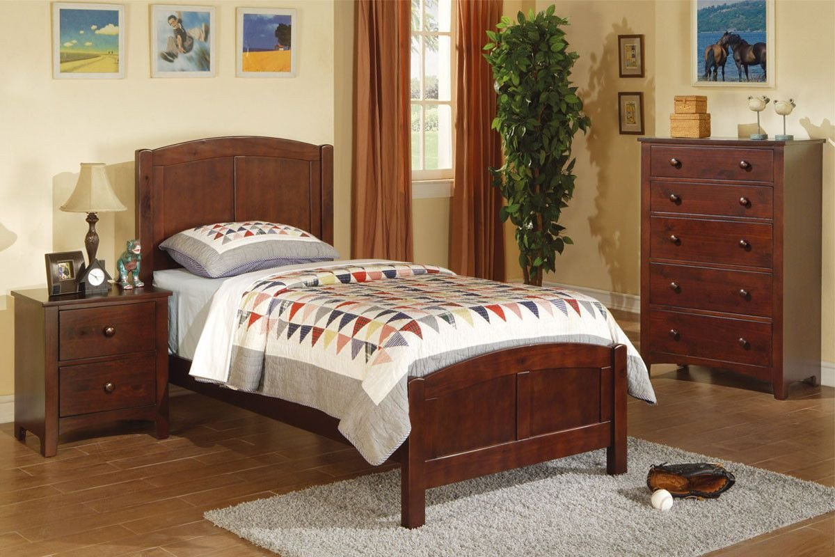 Twin Bed Bedroom Set New New Poundex Twin Bed