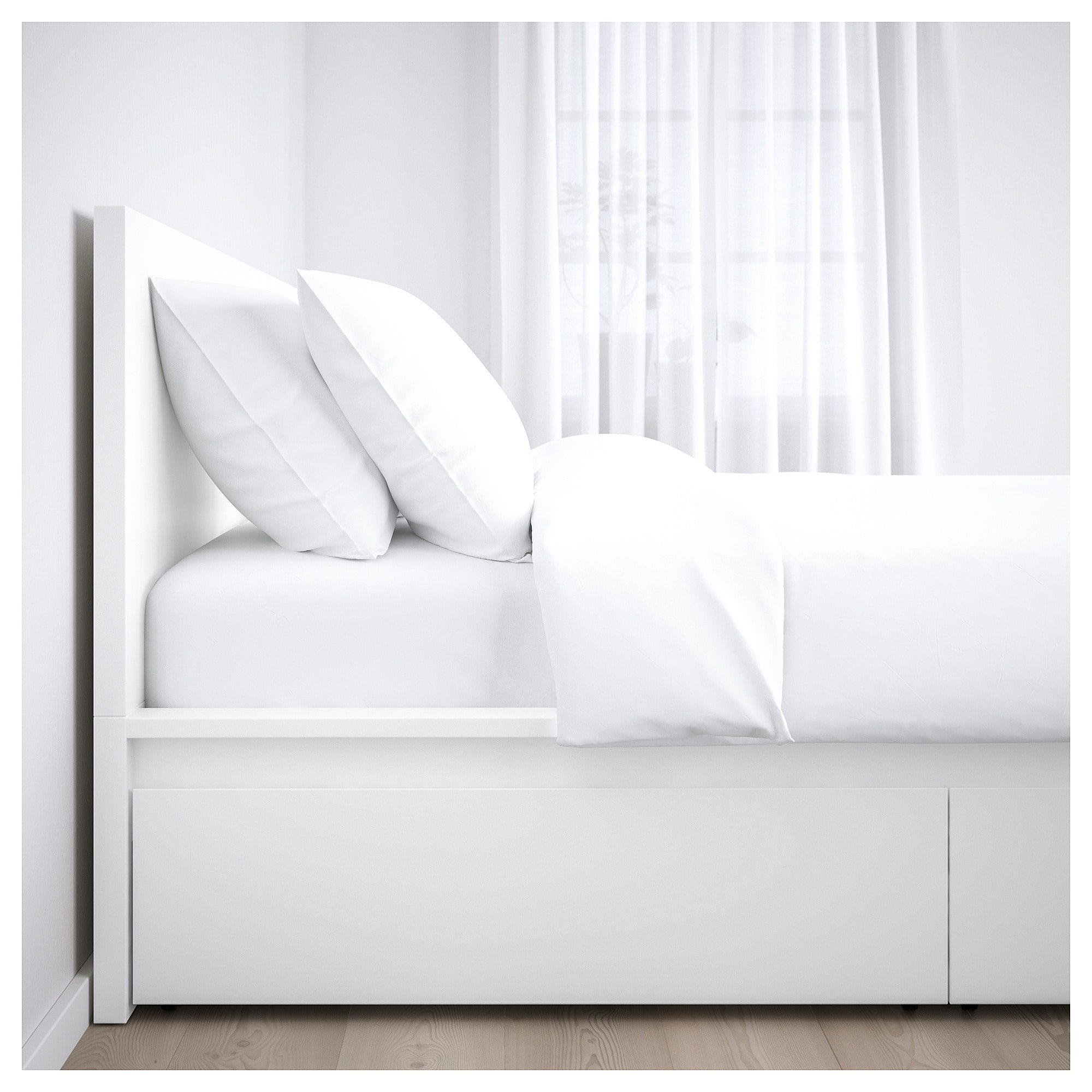 Twin Bedroom Set Ikea Awesome Ikea Malm White Luröy High Bed Frame 2 Storage Boxes