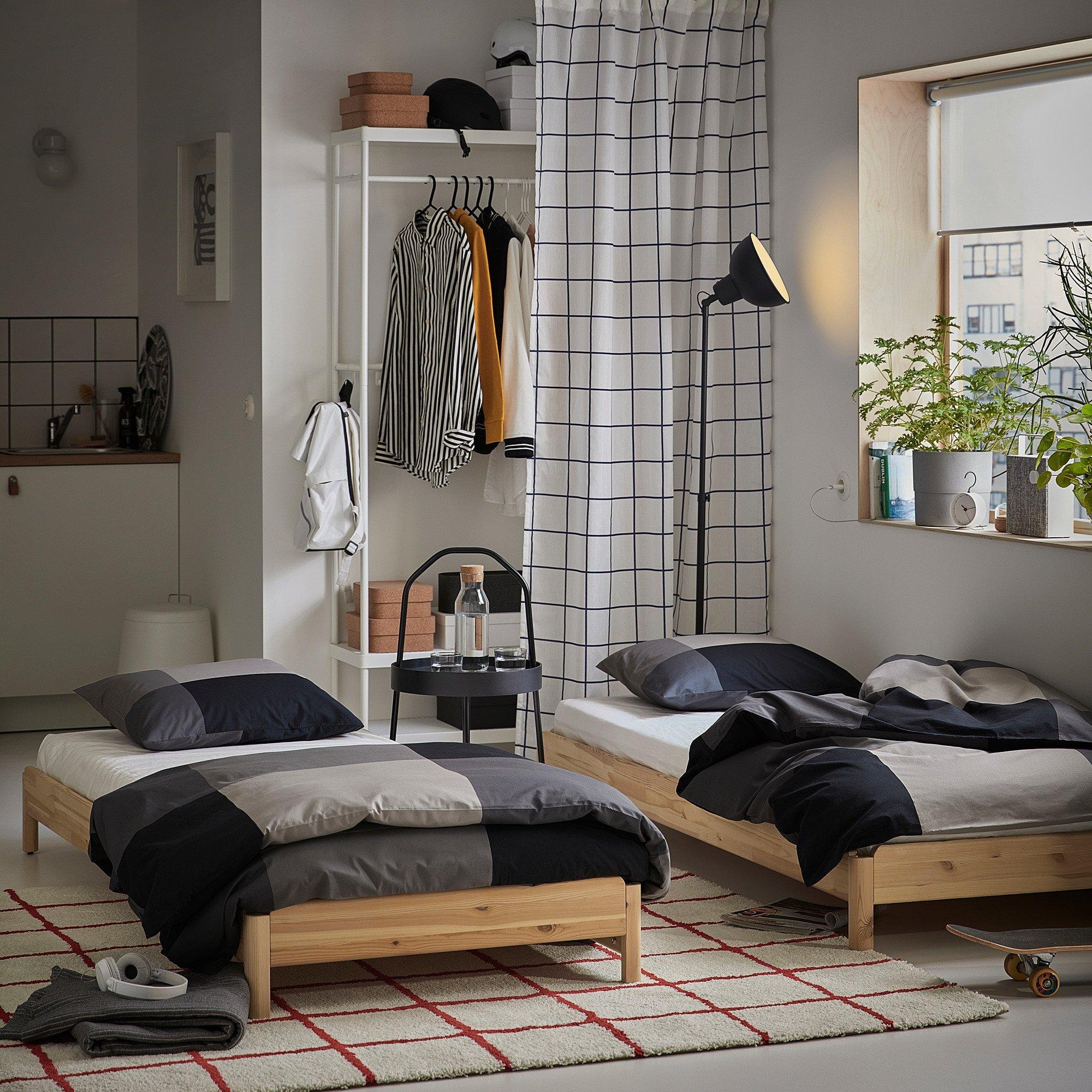 Twin Bedroom Set Ikea Unique Ut…ker Stackable Bed Pine
