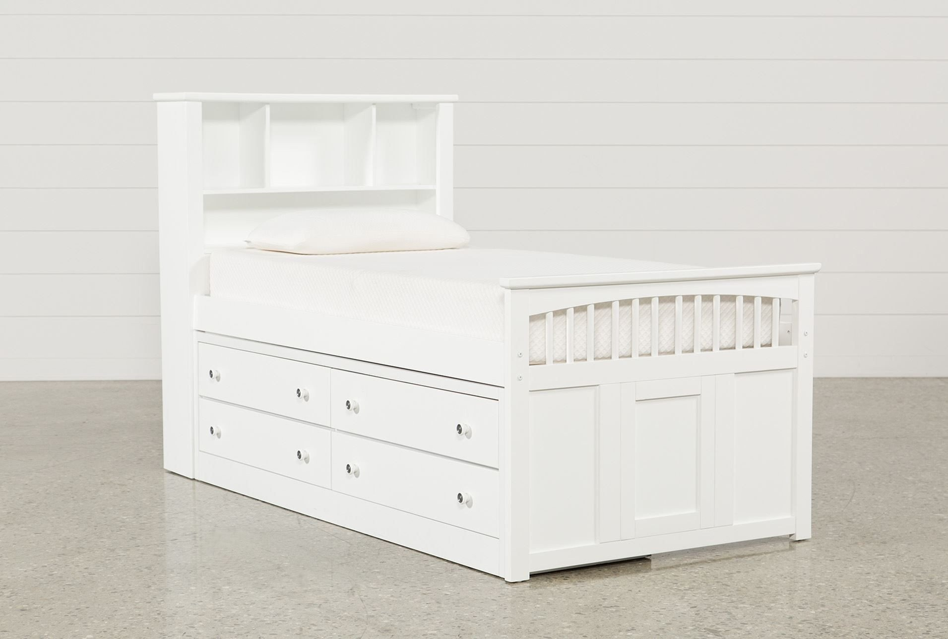 Twin Trundle Bedroom Set Fresh Twin Captains Bed with Double 4 Drawer Unit Bayfront White
