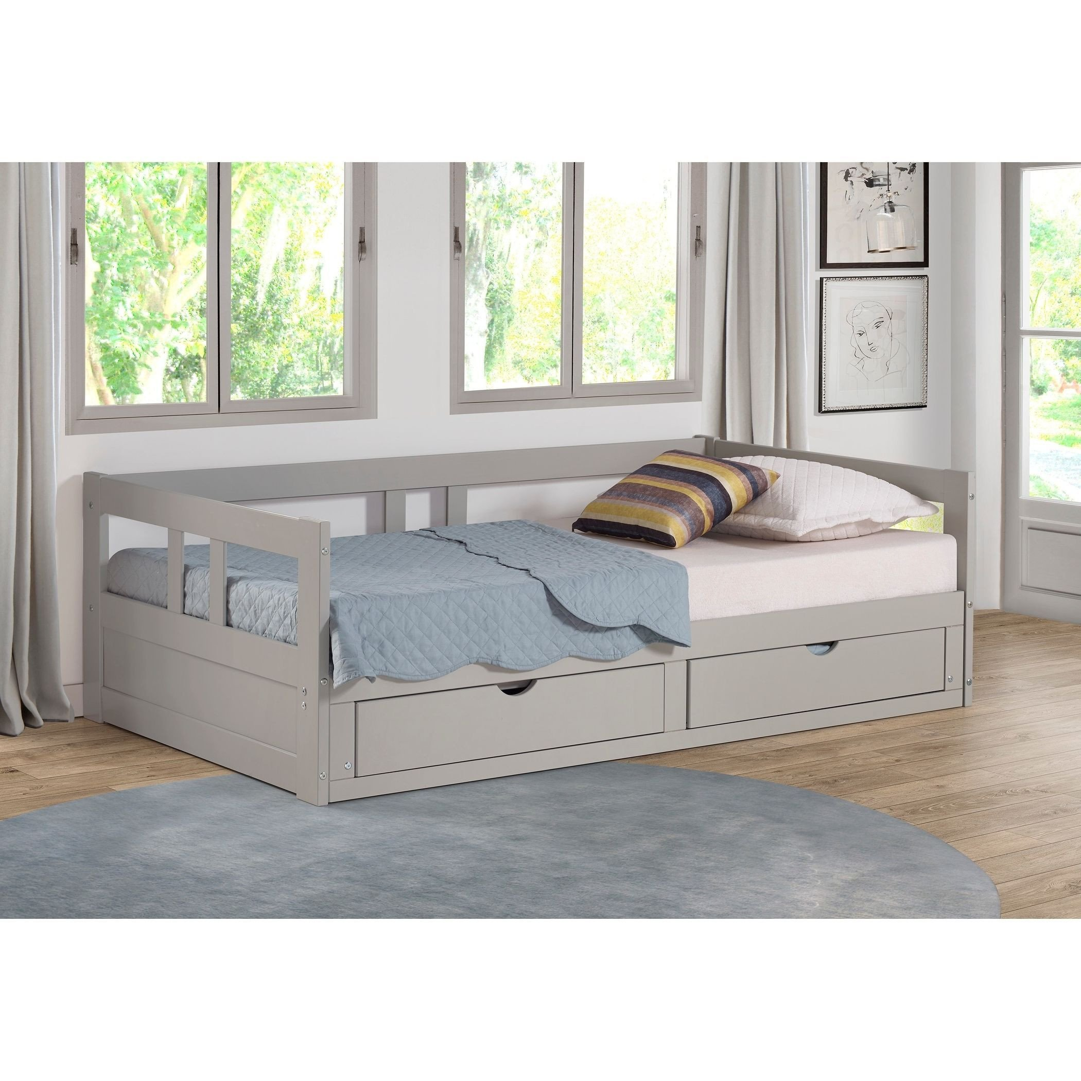 Twin Trundle Bedroom Set Luxury Melody Twin to King Trundle Daybed with Storage Drawers