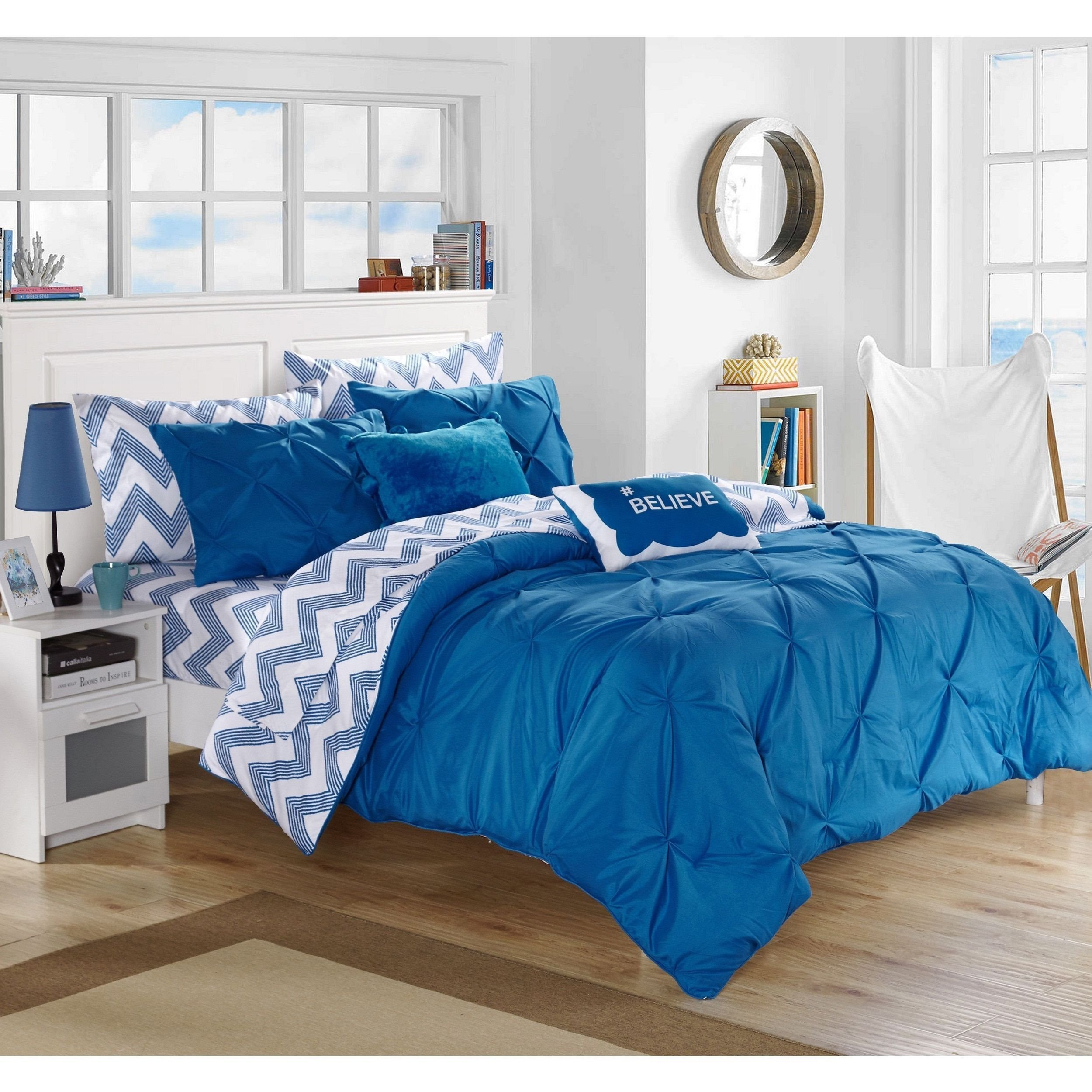 Twin Xl Bedroom Set New Chic Home Foxville Blue 9 Piece Bed In A Bag with Sheet Set
