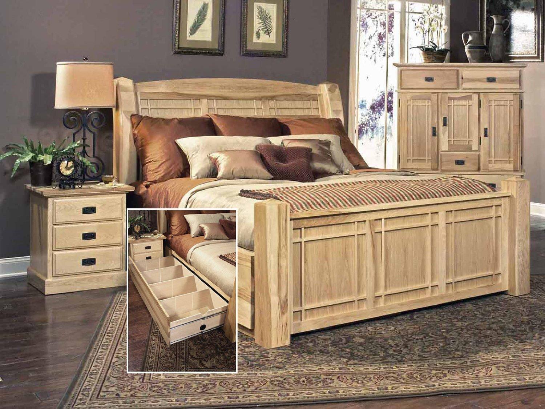 Used King Bedroom Set Elegant Hickory Highlands Storage Bed