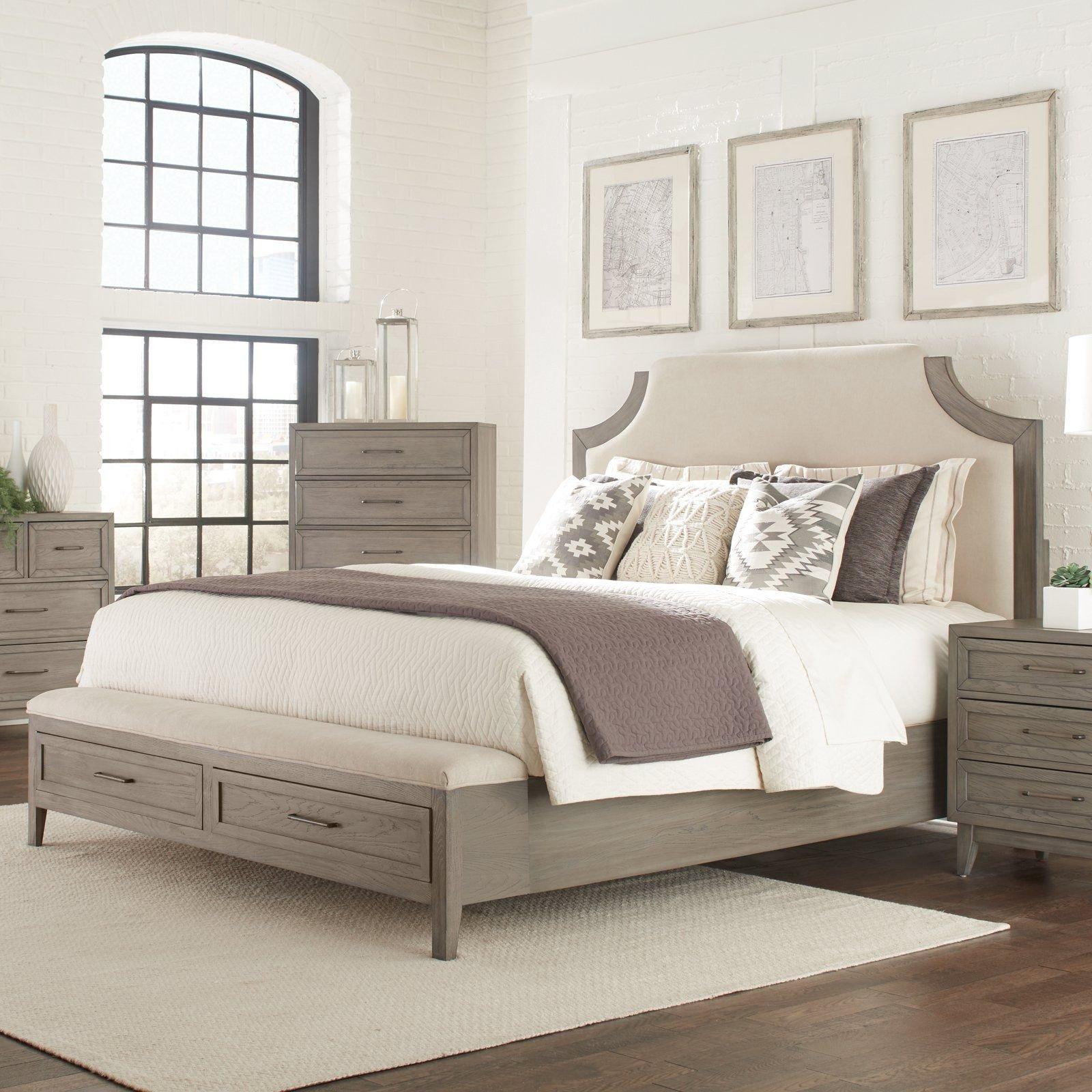 Used King Size Bedroom Set Beautiful Riverside Furniture Vogue Upholstered Storage Bed Size