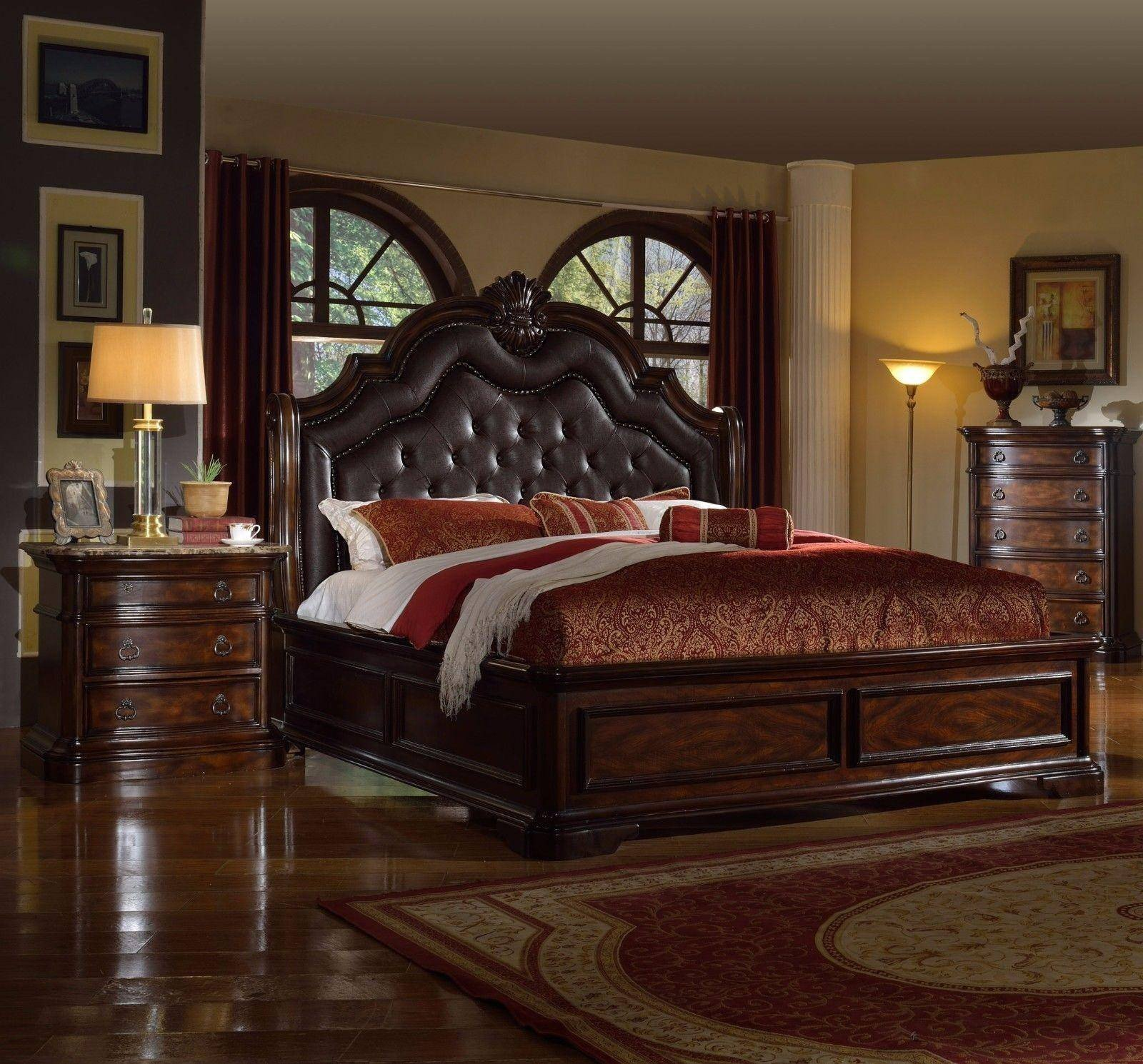 Used King Size Bedroom Set Inspirational Mcferran B6002 Ek Tuscan Rich Brown solid Hardwood Eastern