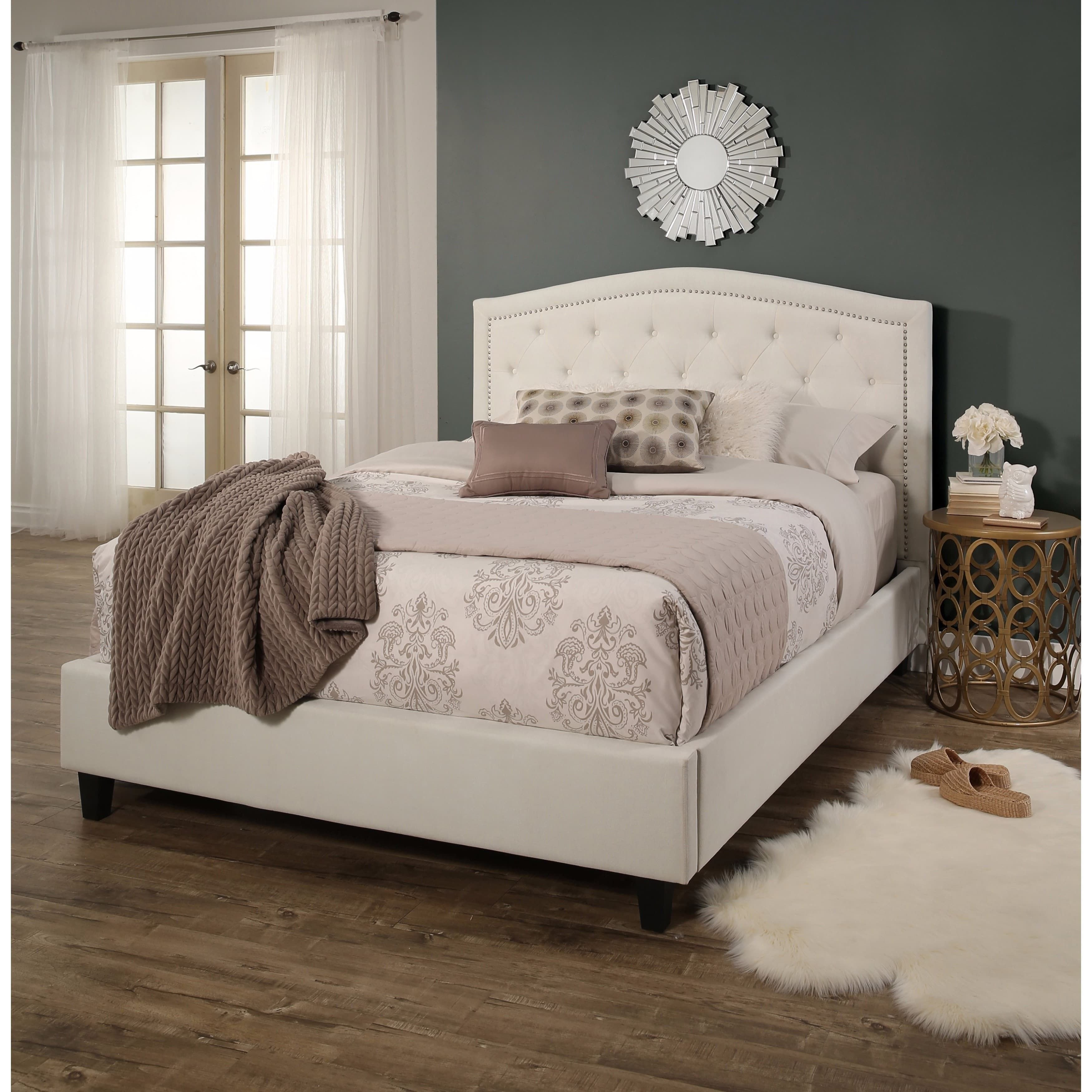 Used King Size Bedroom Set New Virgil Upholstered Tufted Queen Bed by Christopher Knight