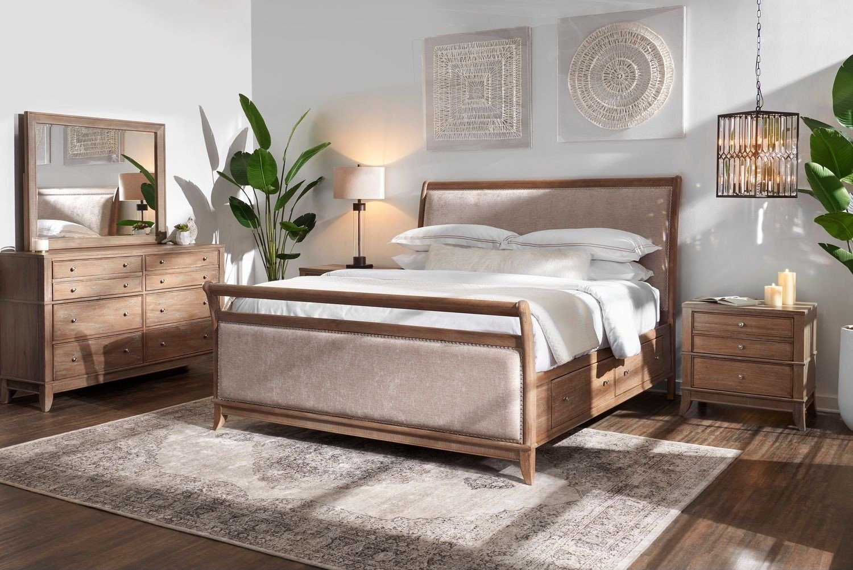 Value City Bedroom Furniture Elegant Hazel 6 Piece Upholstered Bedroom Set with 2 Drawer