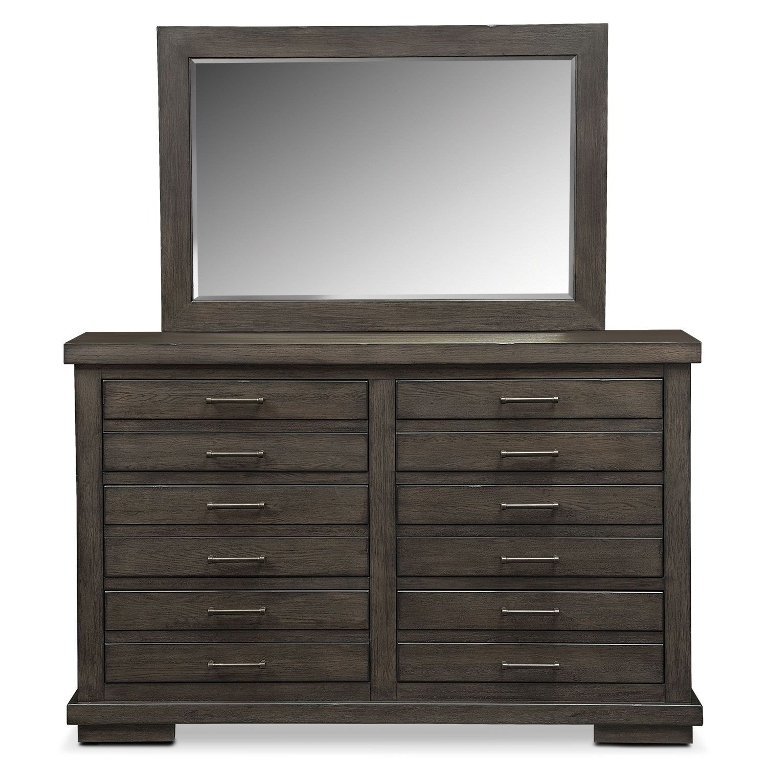 Value City Bedroom Furniture Lovely Jamestown Dresser and Mirror Sable