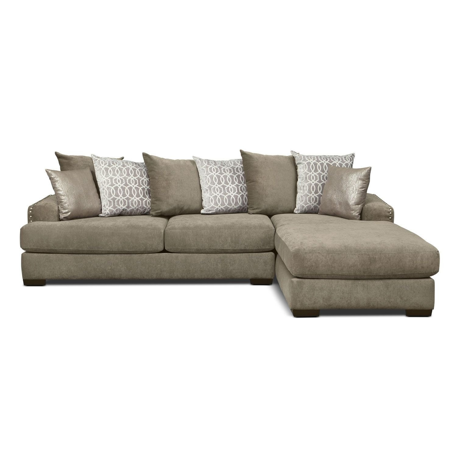 Value City Bedroom Furniture New $1000 Tempo 2 Pc Sectional with Right Facing Chaise