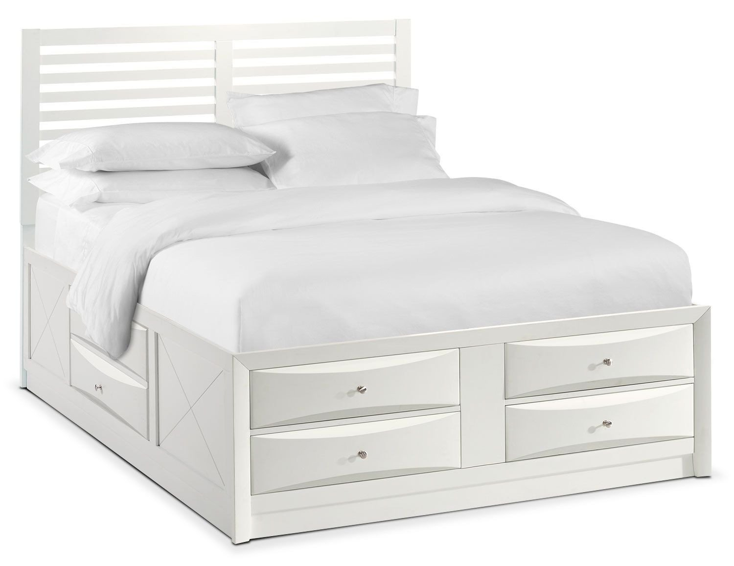 Value City Bedroom Set On Sale Inspirational Braden King Slat Bed with Storage White