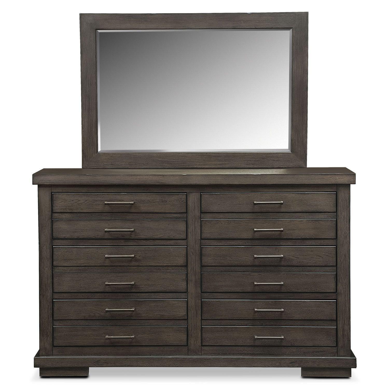Value City Bedroom Set Unique Jamestown Dresser and Mirror Sable