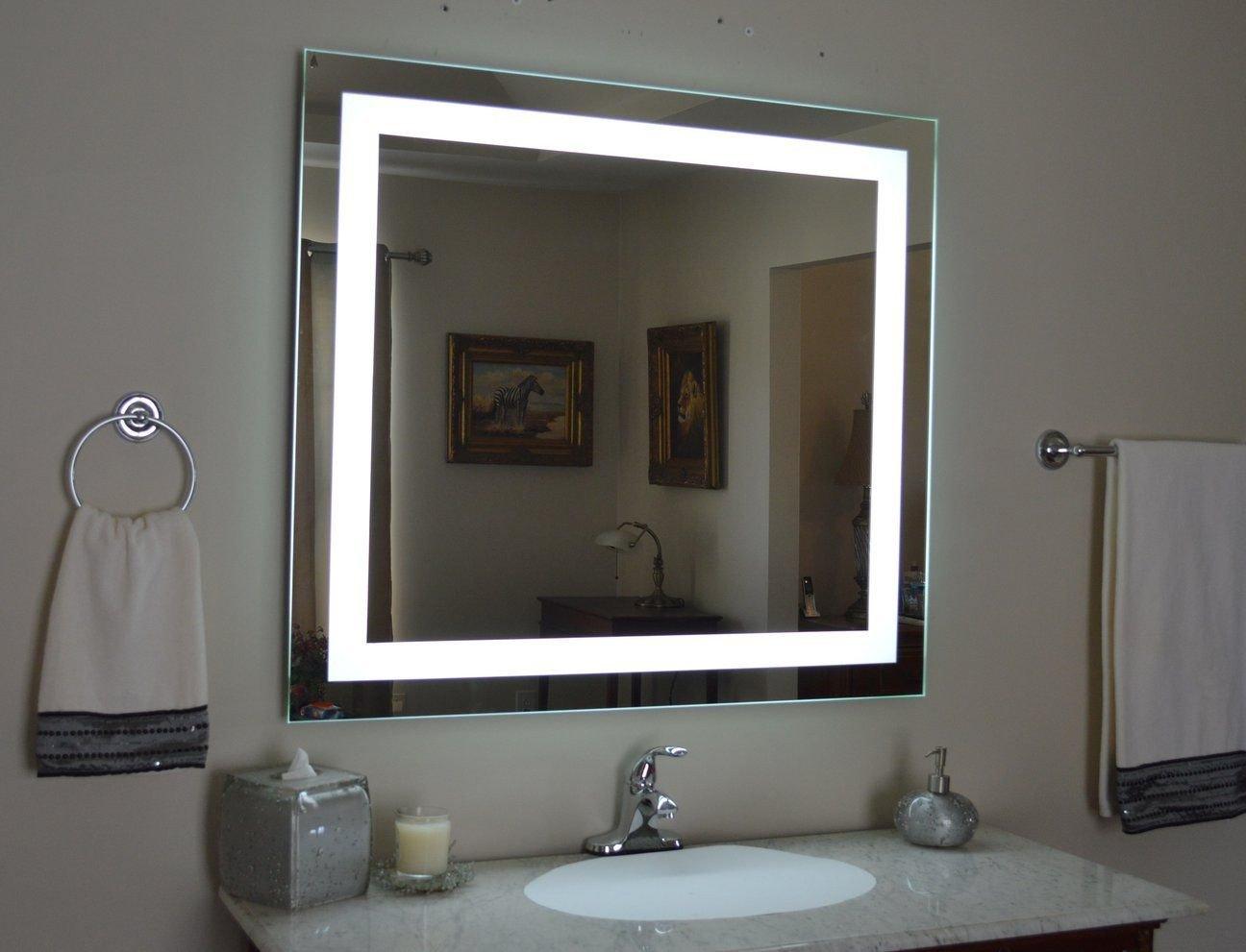 "Vanity Mirror with Light for Bedroom Luxury Front Lighted Led Bathroom Vanity Mirror 44"" Wide X 36"
