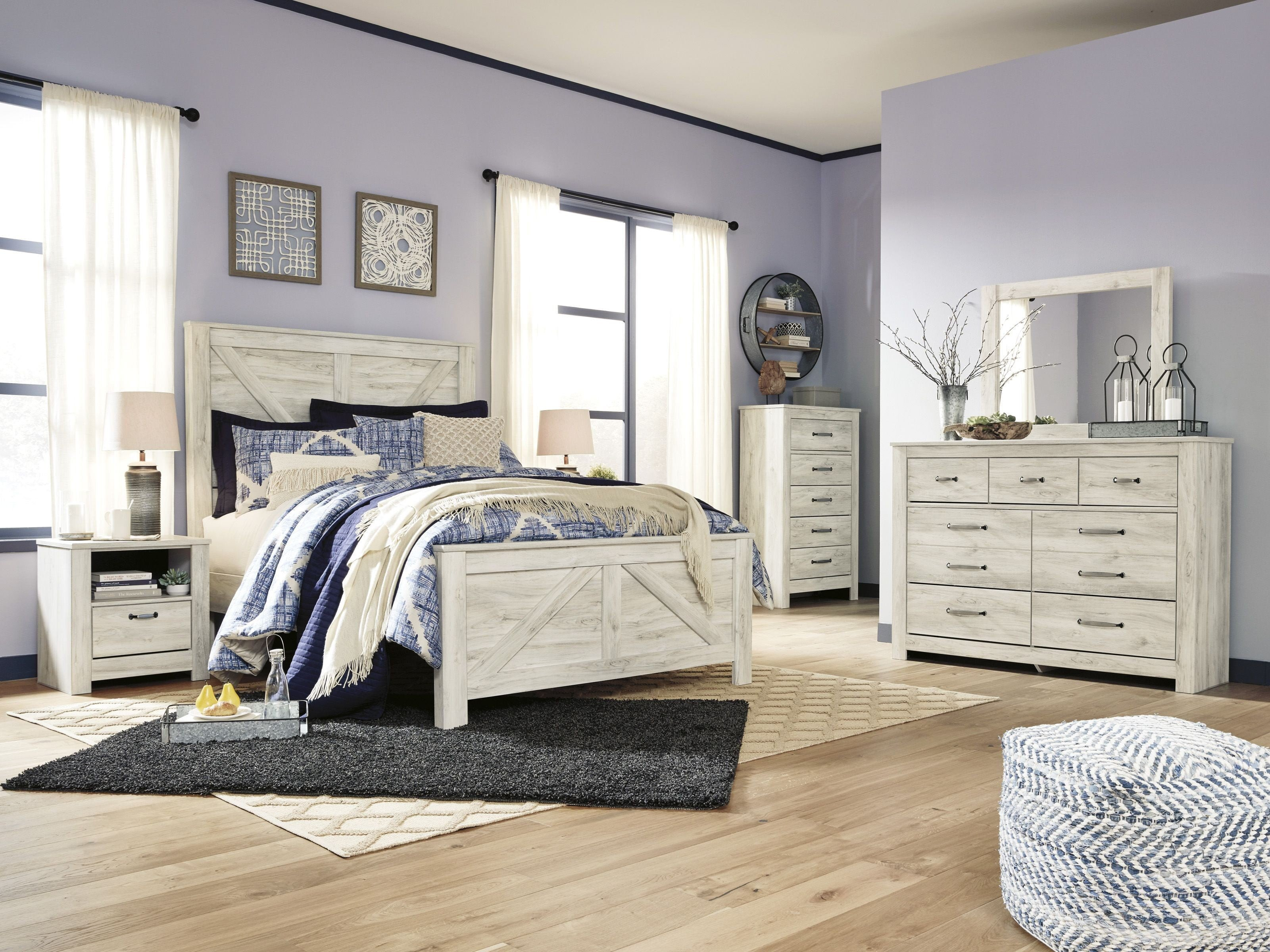 Vaughan Bassett Bedroom Set New Bellaby Whitewash Queen Panel Bed From ashley