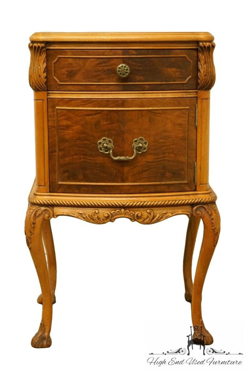 "Vintage Thomasville Bedroom Furniture Best Of Rway northern Furniture French Regency Burled Wood 18"" Nightstand 6942"