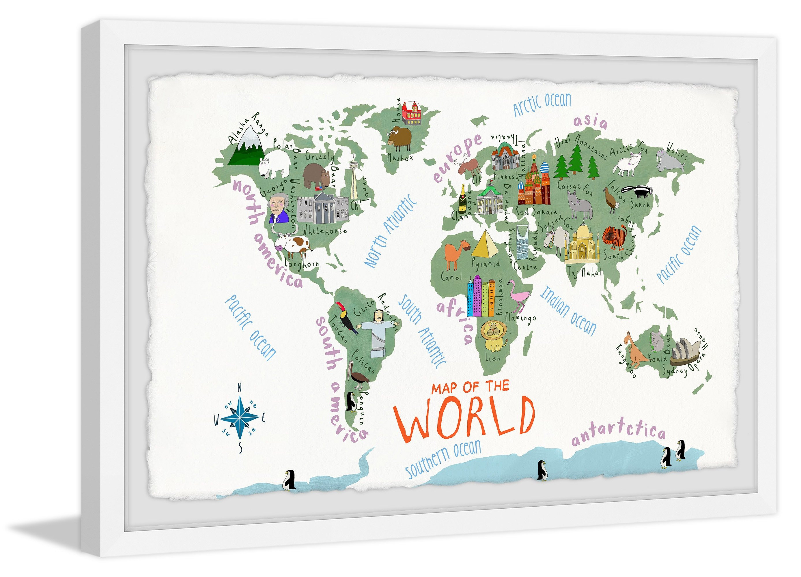 Wal Mart Bedroom Furniture Elegant Marmont Hill Map Of the World by Carla Daly Framed Wall Art