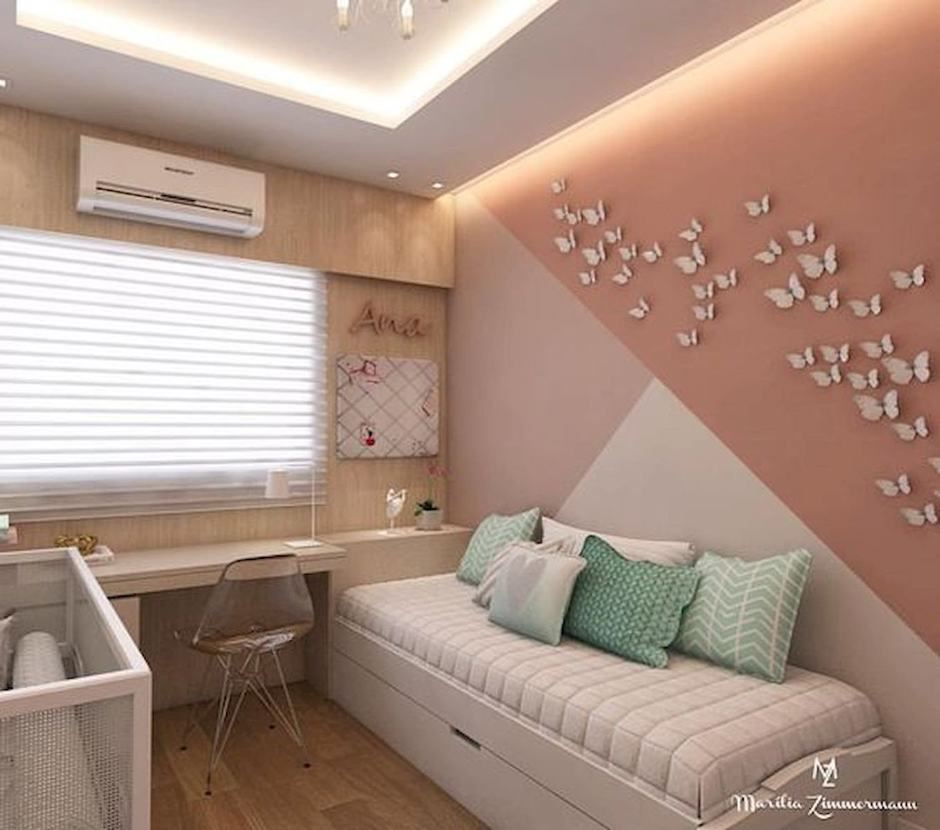 Wall Decoration for Girls Bedroom Inspirational 33 Best Geometric Wall Art Paint Design Ideas