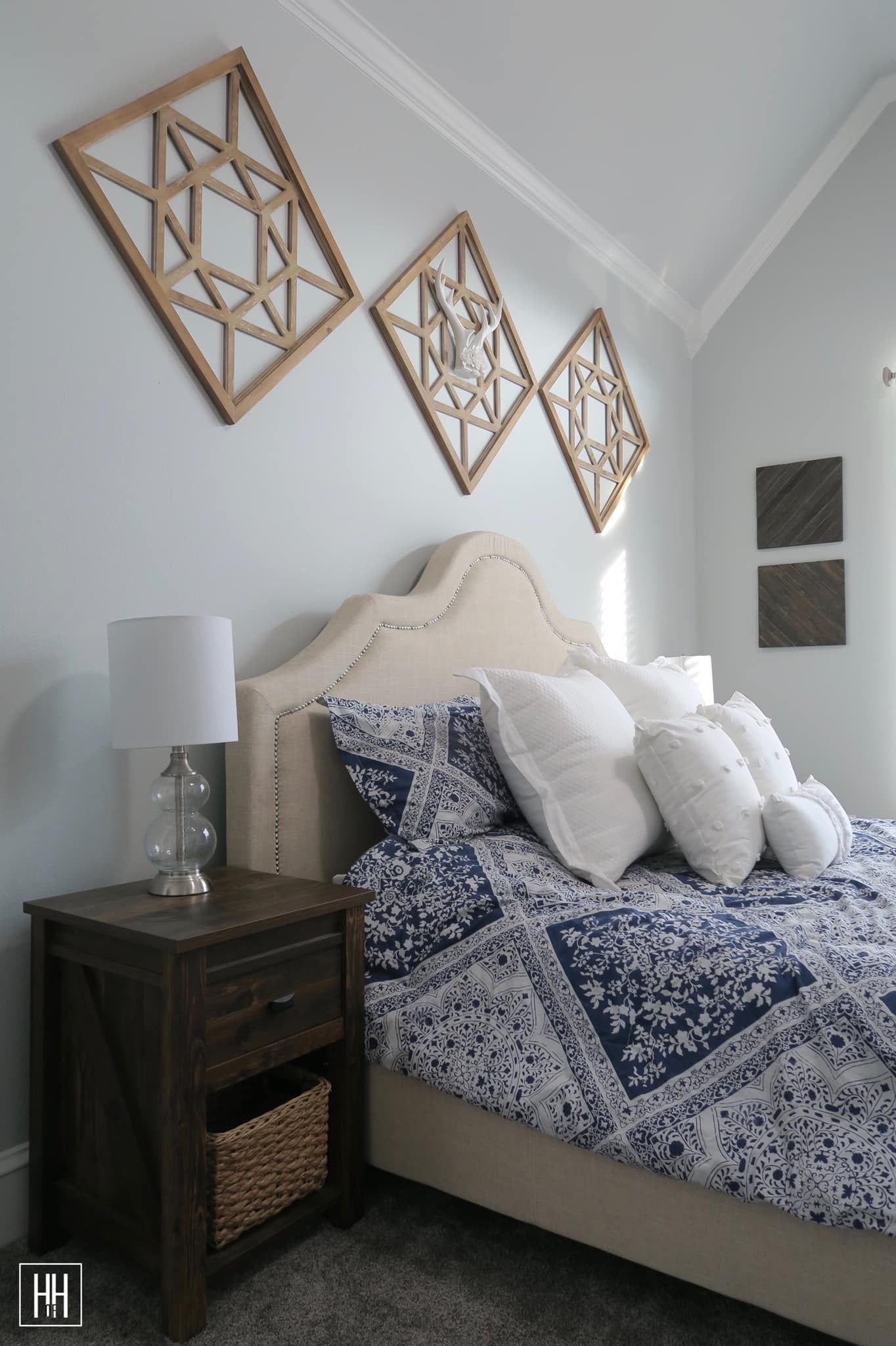 Wall Hangings for Bedroom Beautiful Transitional Modern Farmhouse Master Bedroom Headboard