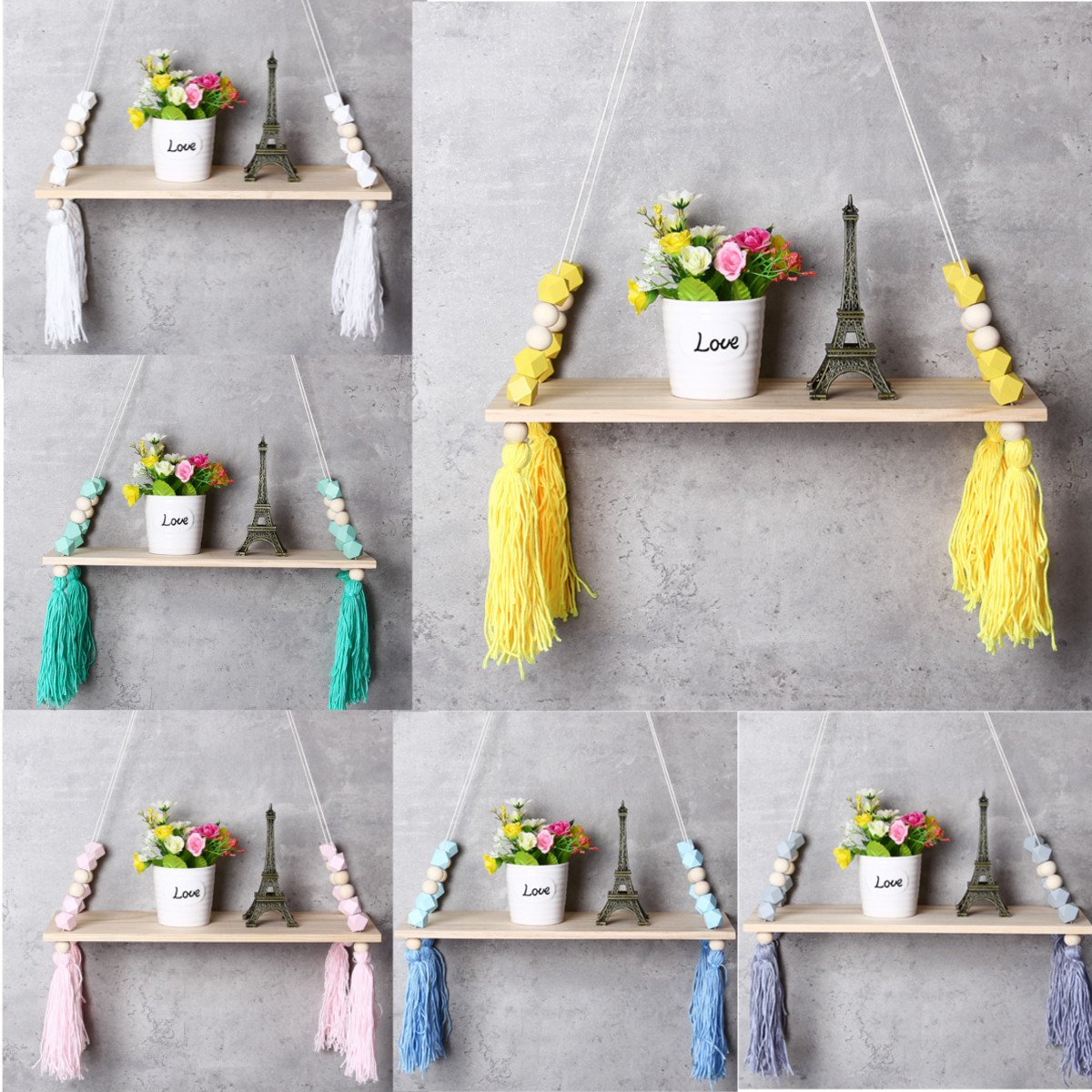 Wall Hangings for Bedroom Best Of Details About Wall Hanging Swing Shelf Shelves Baby Kids Room Storage Holder Wood Rope Decor