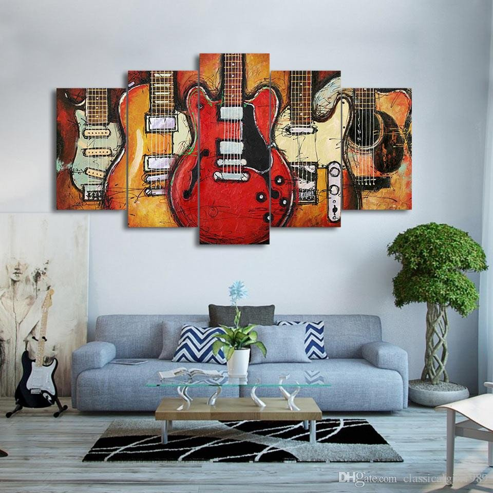 Wall Hangings for Bedroom Fresh 2019 Canvas Paintings Printed Guitar Abstract Wall Art Canvas for Living Room Bedroom Home Decor Cu 1409a From Classicalgirl1989 $17 89